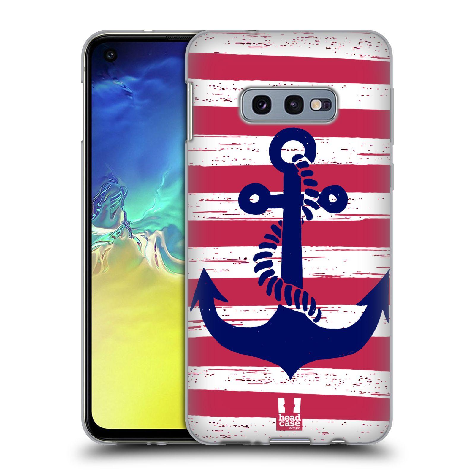 Silikonové pouzdro na mobil Samsung Galaxy S10e - Head Case - KOTVA S PRUHY