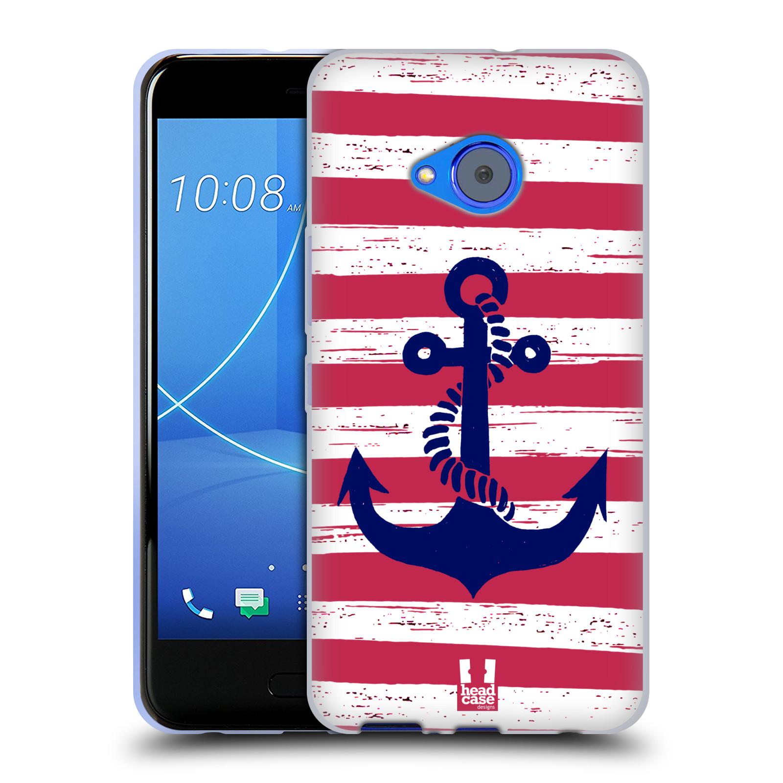 Silikonové pouzdro na mobil HTC U11 Life - Head Case - KOTVA S PRUHY