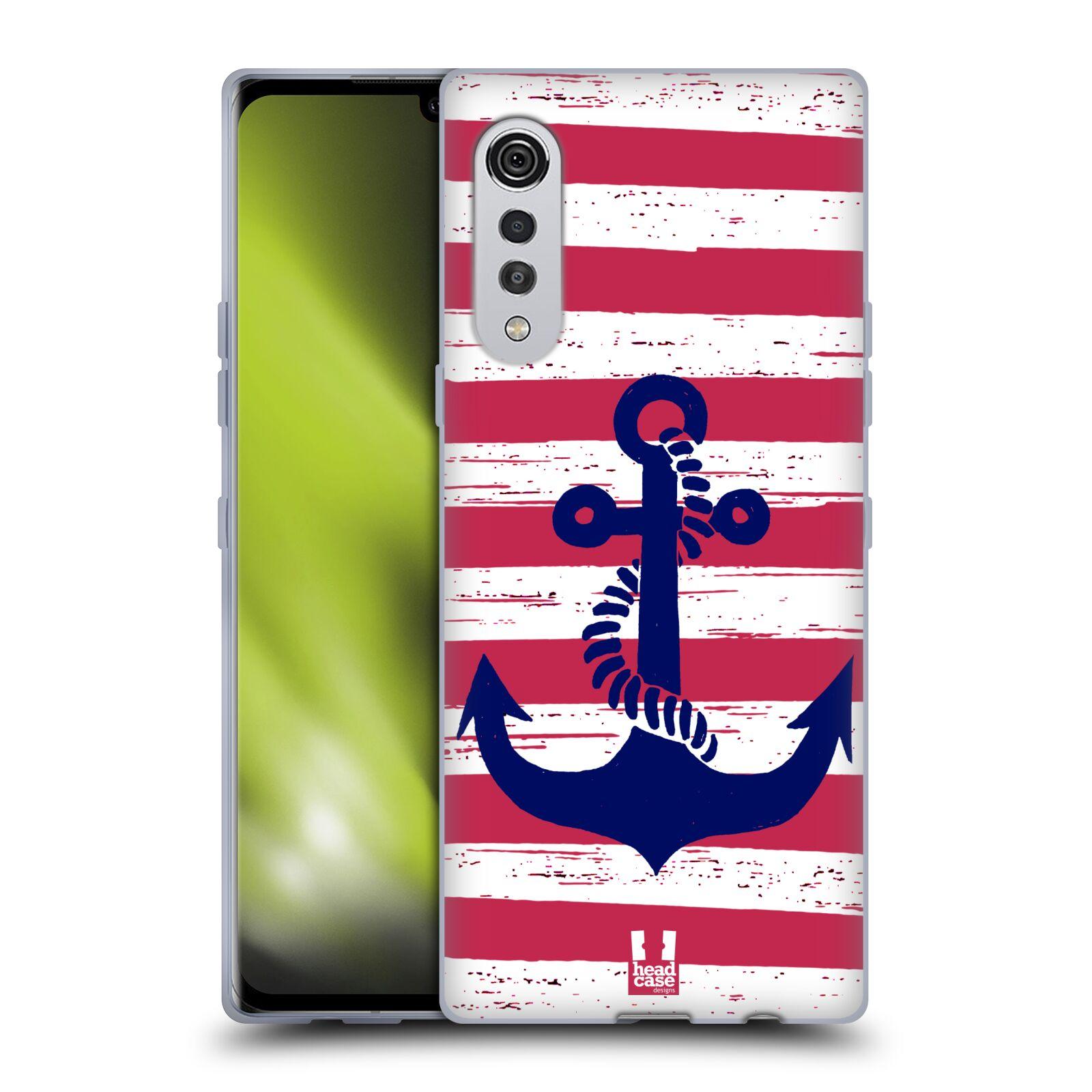 Silikonové pouzdro na mobil LG Velvet - Head Case - KOTVA S PRUHY