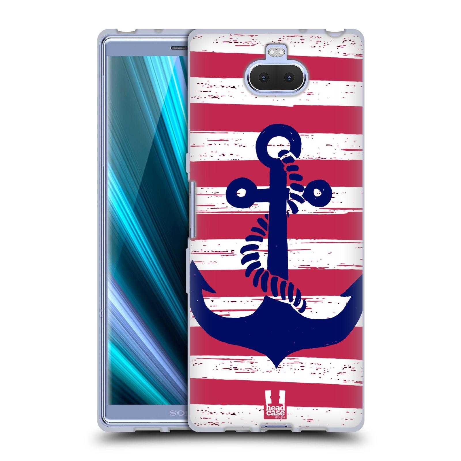 Silikonové pouzdro na mobil Sony Xperia 10 - Head Case - KOTVA S PRUHY