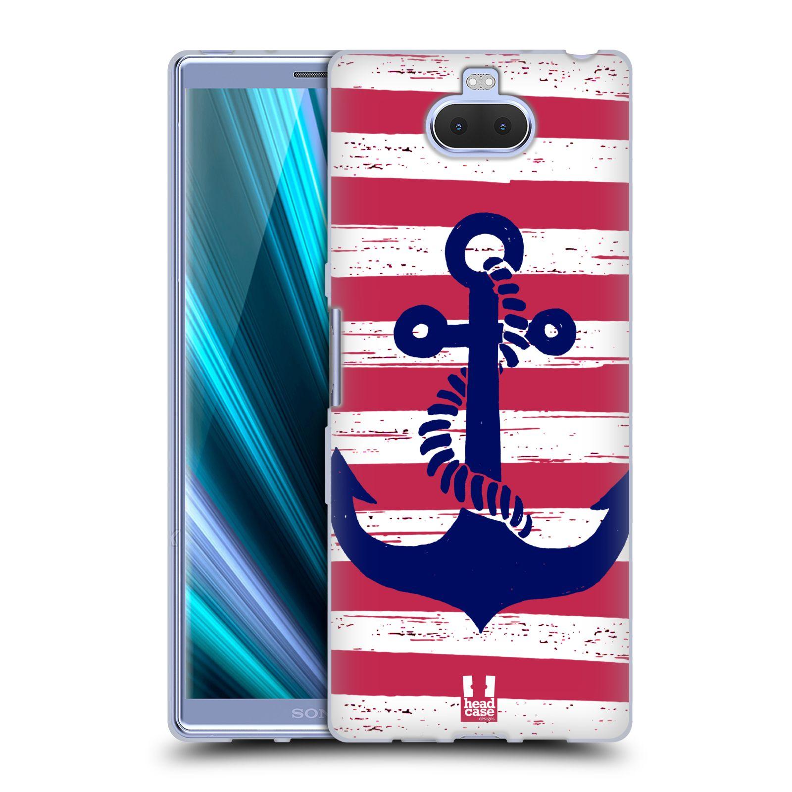 Silikonové pouzdro na mobil Sony Xperia 10 Plus - Head Case - KOTVA S PRUHY