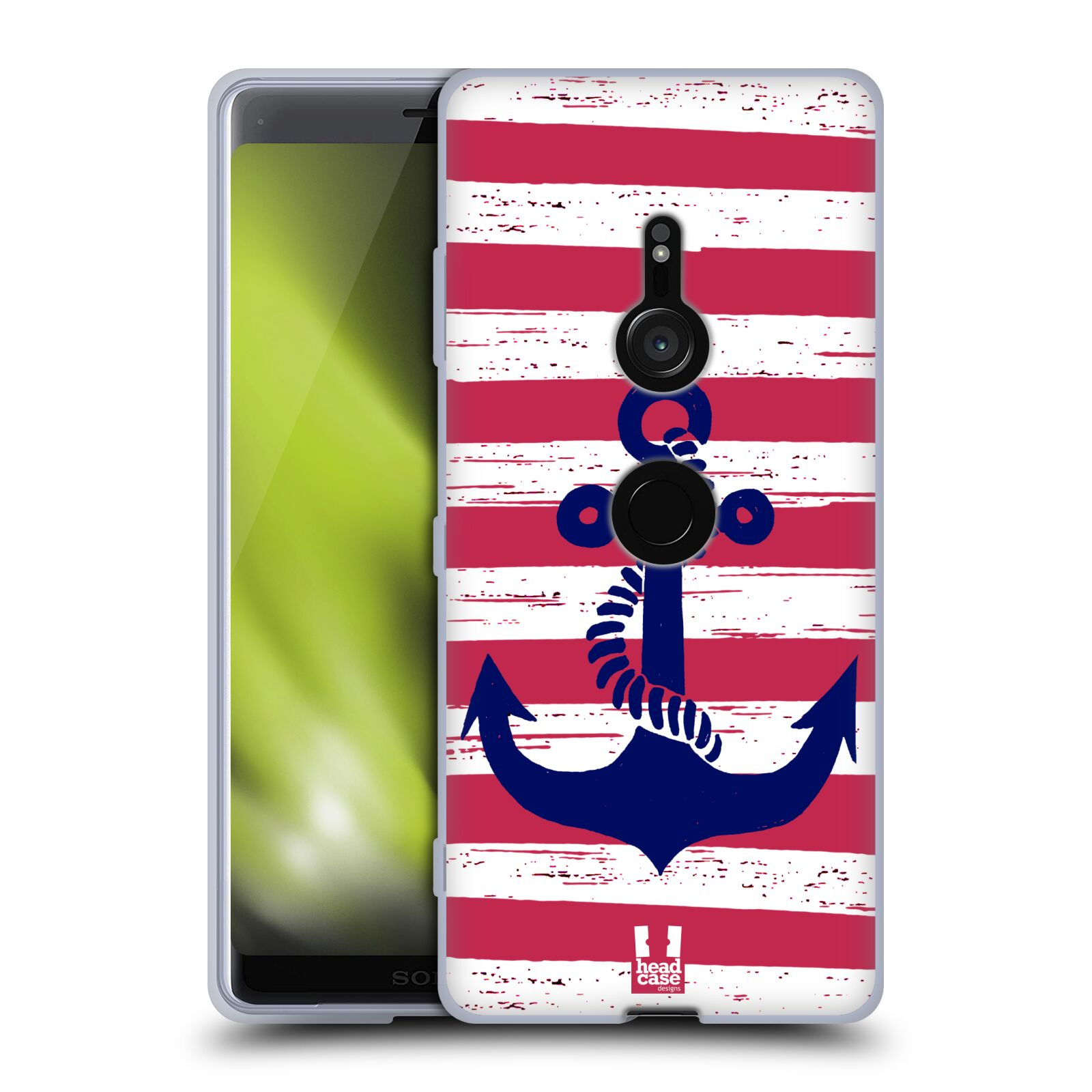Silikonové pouzdro na mobil Sony Xperia XZ3 - Head Case - KOTVA S PRUHY