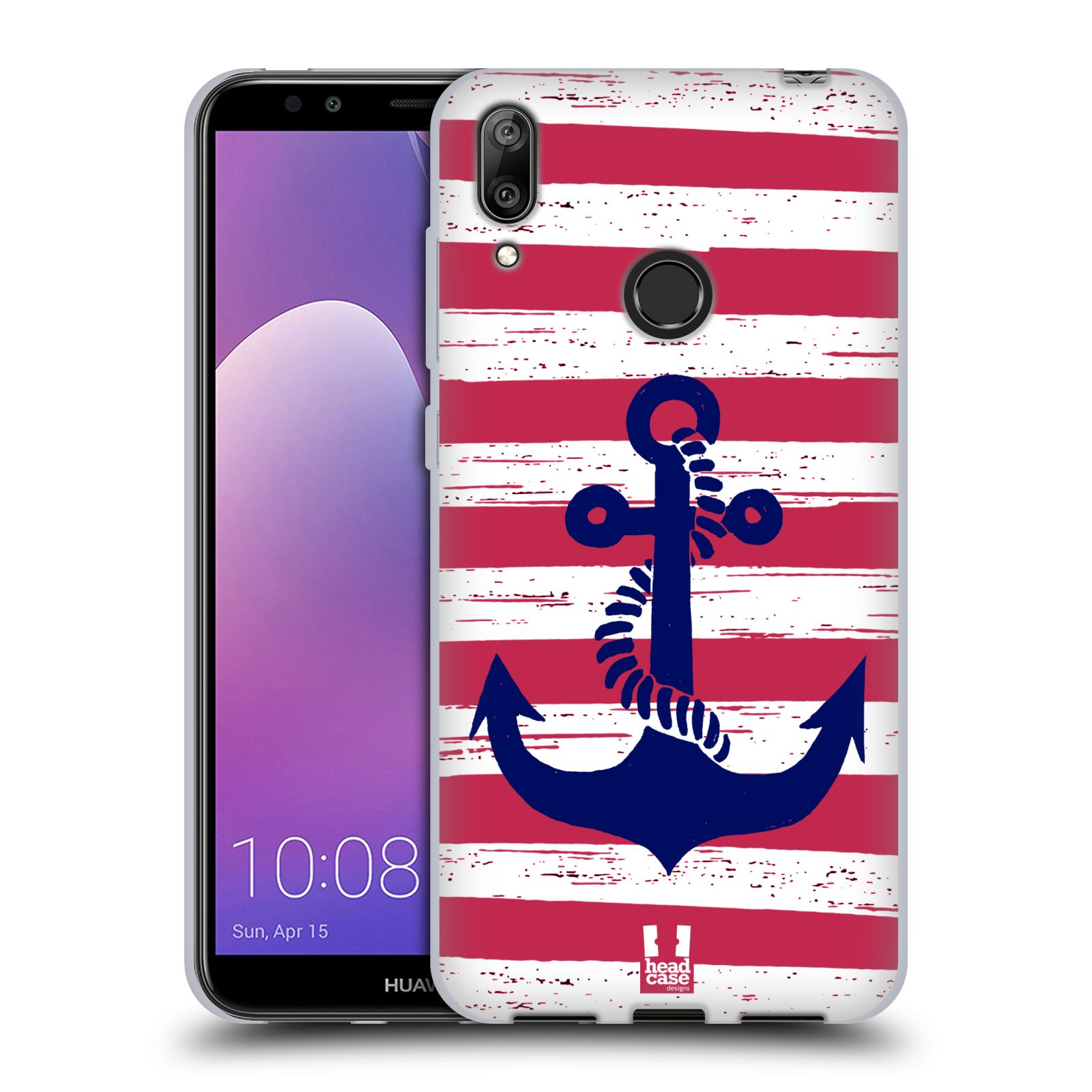 Silikonové pouzdro na mobil Huawei Y7 (2019) - Head Case - KOTVA S PRUHY