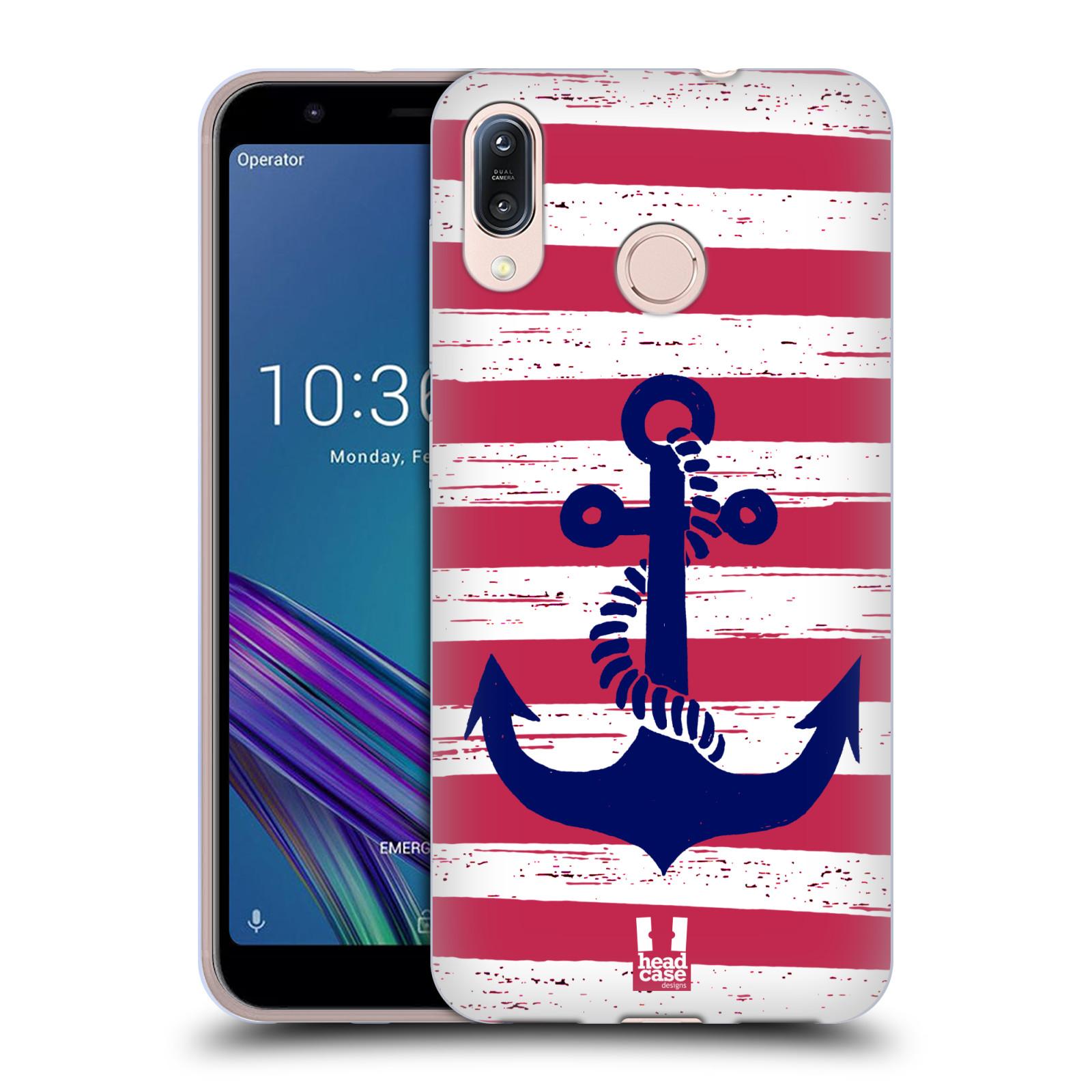 Silikonové pouzdro na mobil Asus Zenfone Max M1 ZB555KL - Head Case - KOTVA S PRUHY