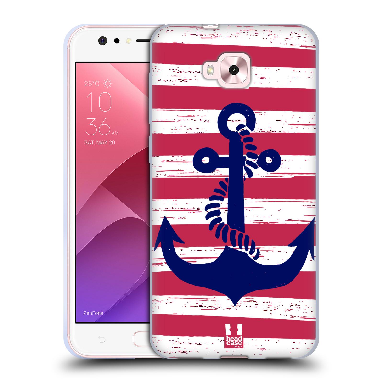 Silikonové pouzdro na mobil Asus Zenfone 4 Selfie ZD553KL - Head Case - KOTVA S PRUHY