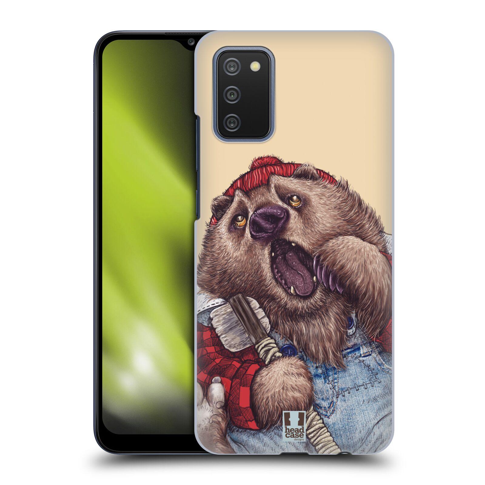 Plastové pouzdro na mobil Samsung Galaxy A02s - Head Case - ANIMPLA MEDVĚD