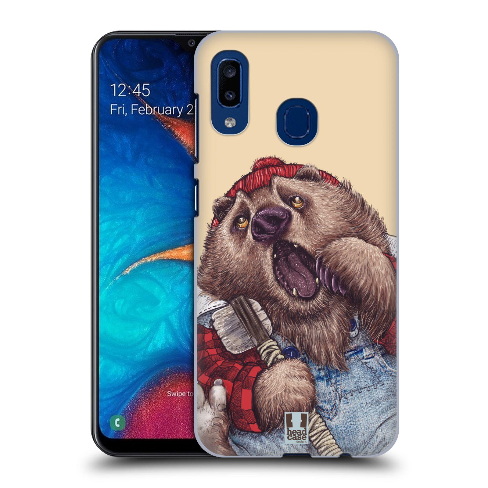 Plastové pouzdro na mobil Samsung Galaxy A20 - Head Case - ANIMPLA MEDVĚD
