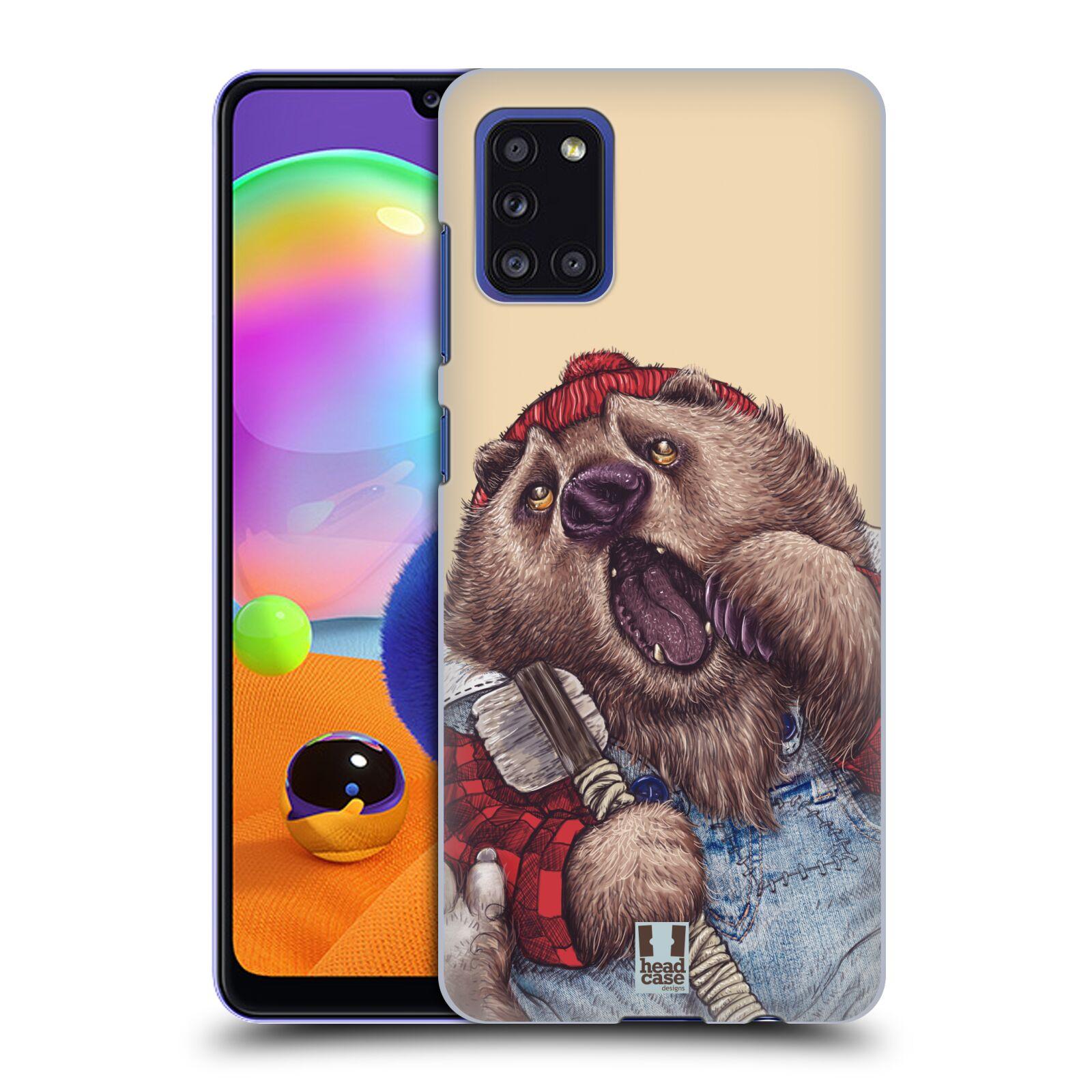 Plastové pouzdro na mobil Samsung Galaxy A31 - Head Case - ANIMPLA MEDVĚD