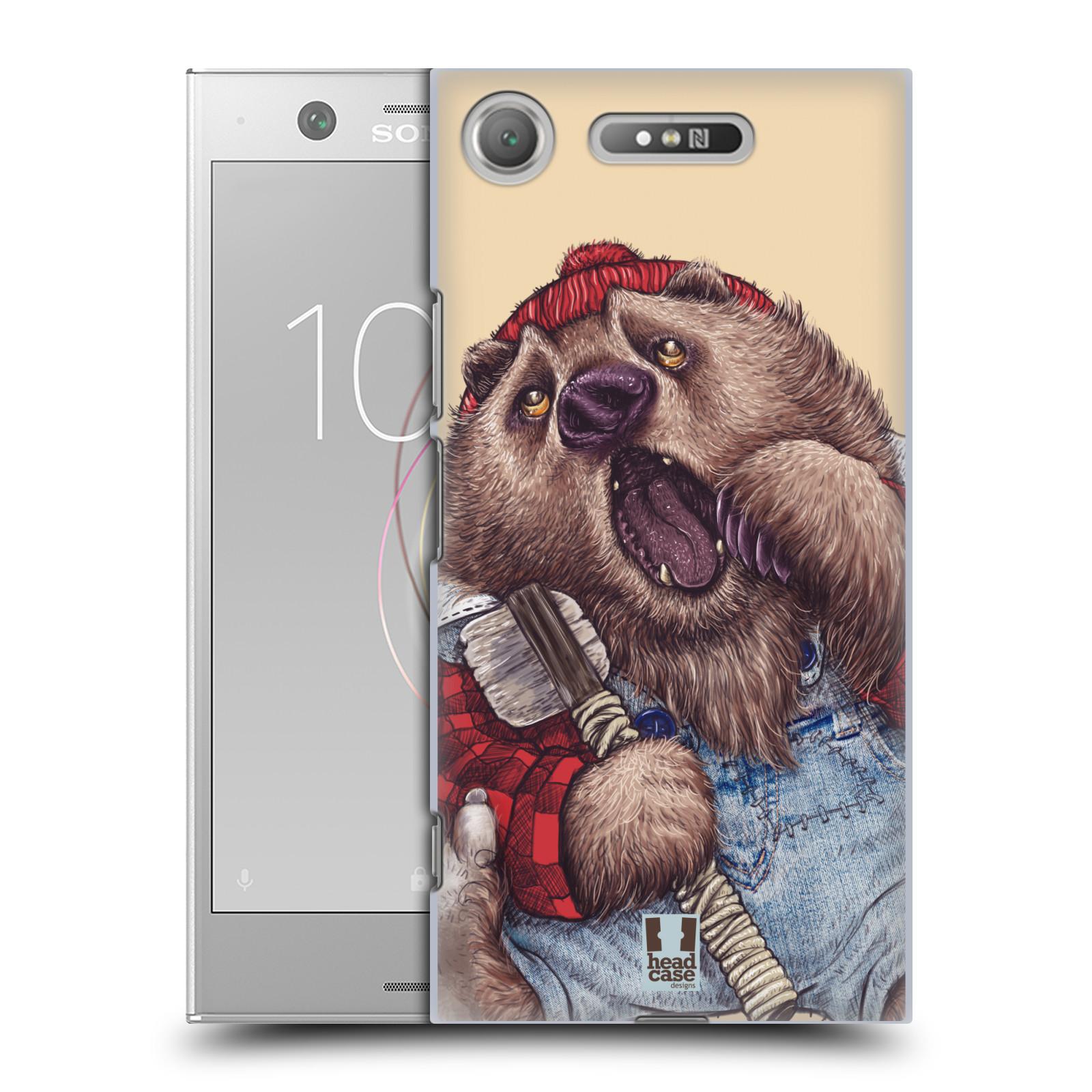 Plastové pouzdro na mobil Sony Xperia XZ1 - Head Case - ANIMPLA MEDVĚD