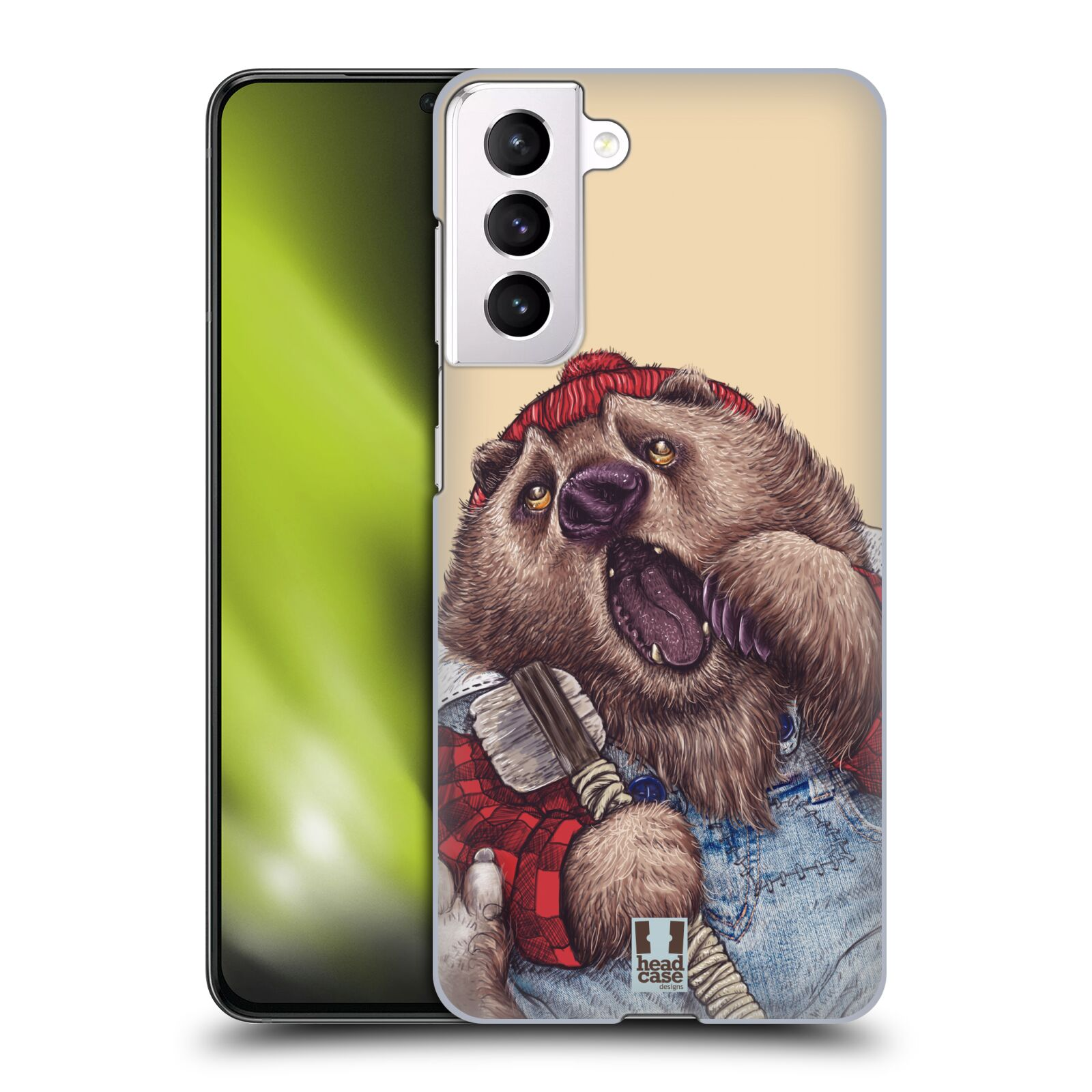 Plastové pouzdro na mobil Samsung Galaxy S21 5G - Head Case - ANIMPLA MEDVĚD