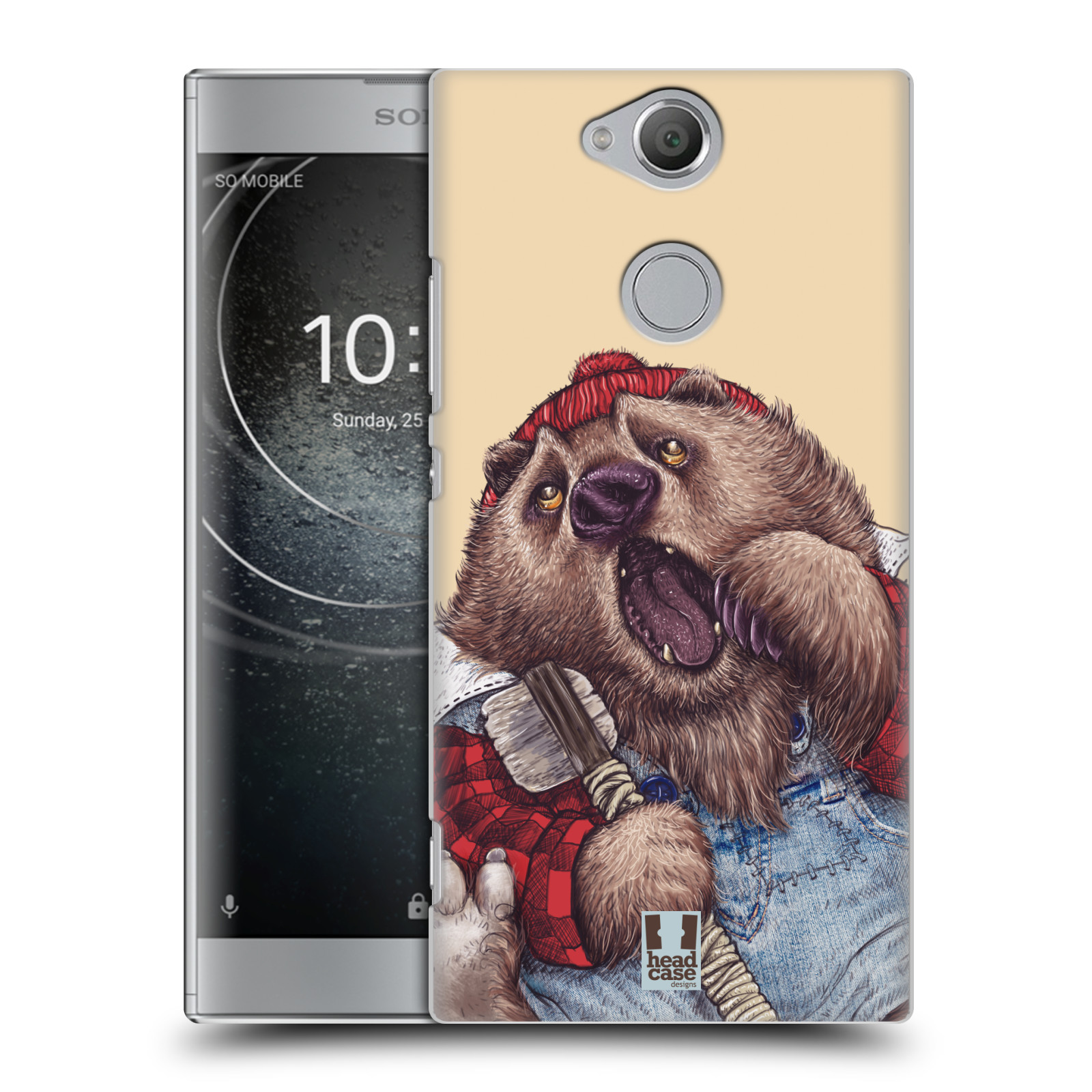 Plastové pouzdro na mobil Sony Xperia XA2 - Head Case - ANIMPLA MEDVĚD