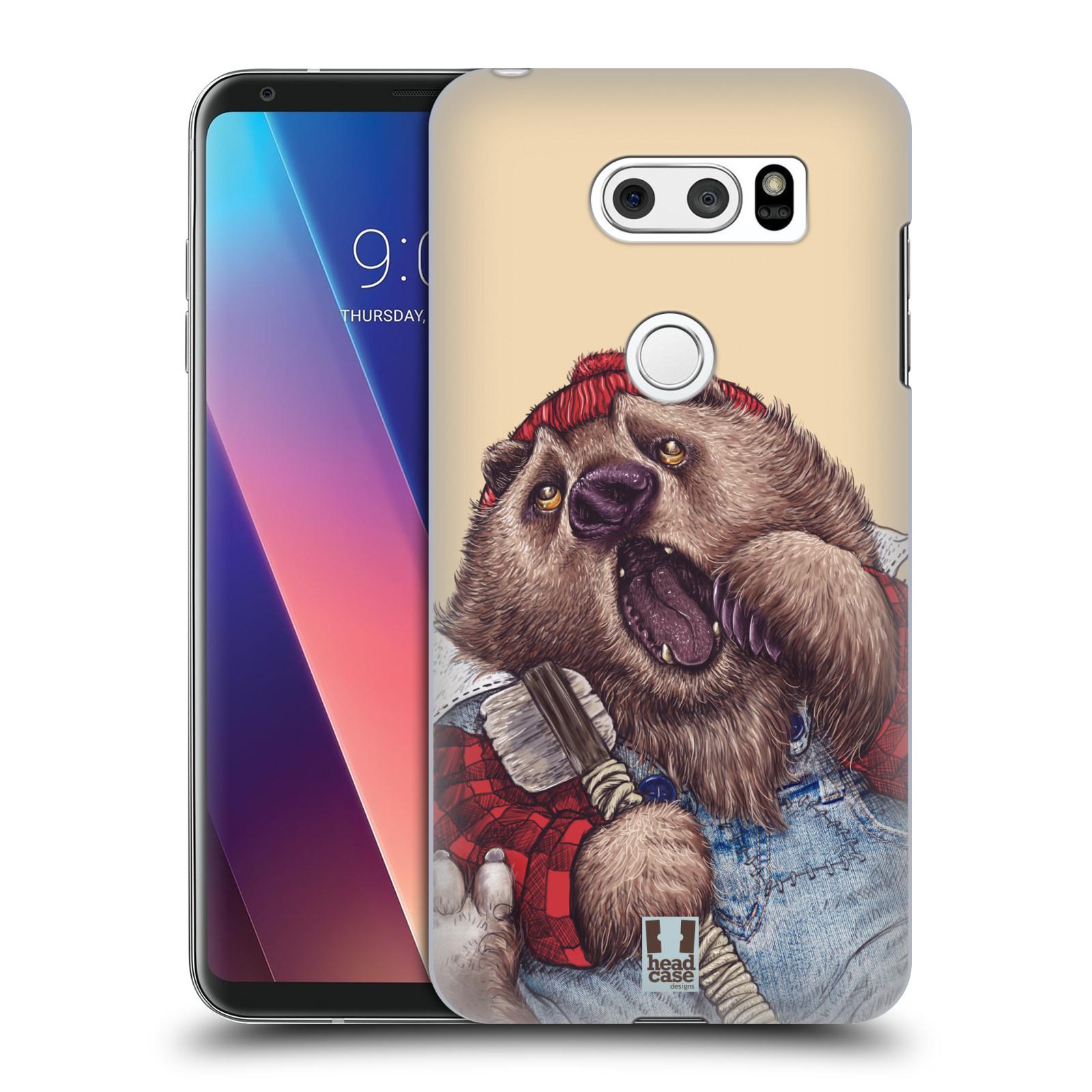 Plastové pouzdro na mobil LG V30 - Head Case - ANIMPLA MEDVĚD