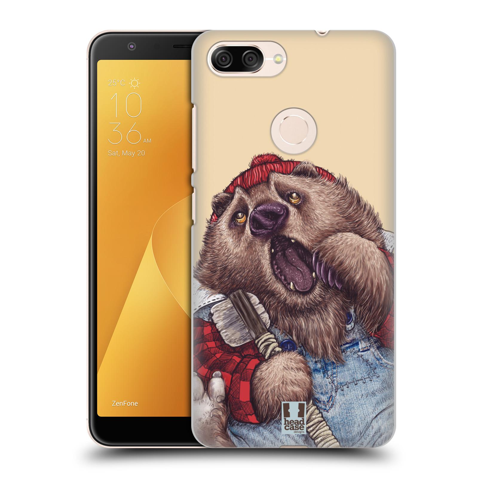 Plastové pouzdro na mobil Asus ZenFone Max Plus (M1) - Head Case - ANIMPLA MEDVĚD