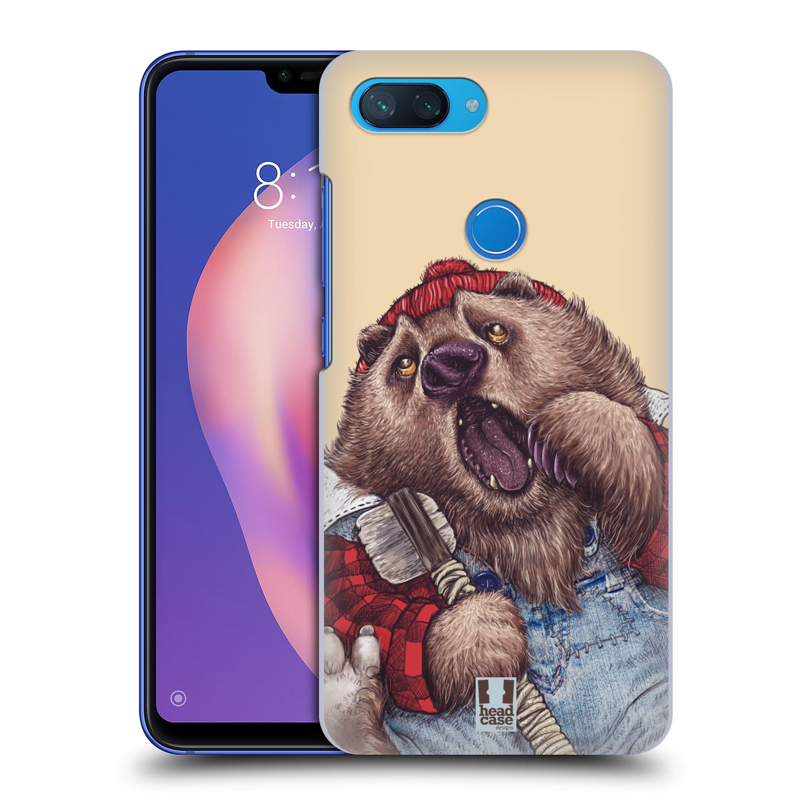 Plastové pouzdro na mobil Xiaomi Mi 8 Lite - Head Case - ANIMPLA MEDVĚD