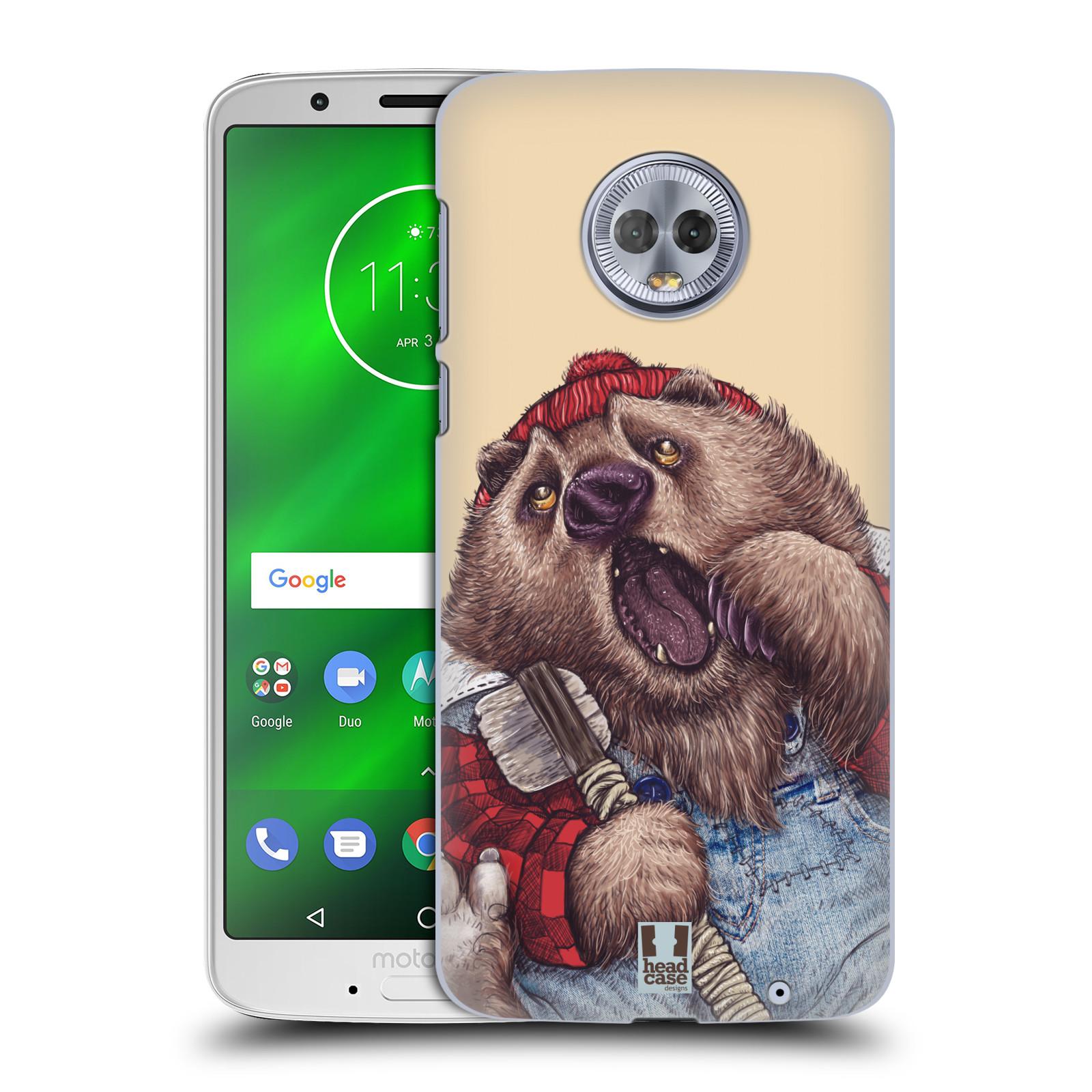 Plastové pouzdro na mobil Motorola Moto G6 Plus - Head Case - ANIMPLA MEDVĚD