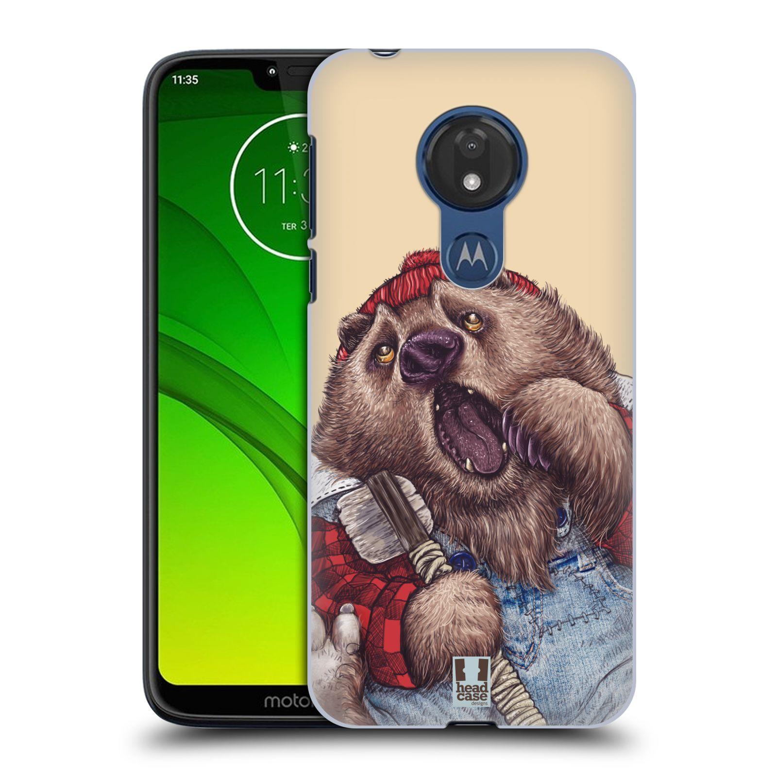 Plastové pouzdro na mobil Motorola Moto G7 Power - Head Case - ANIMPLA MEDVĚD