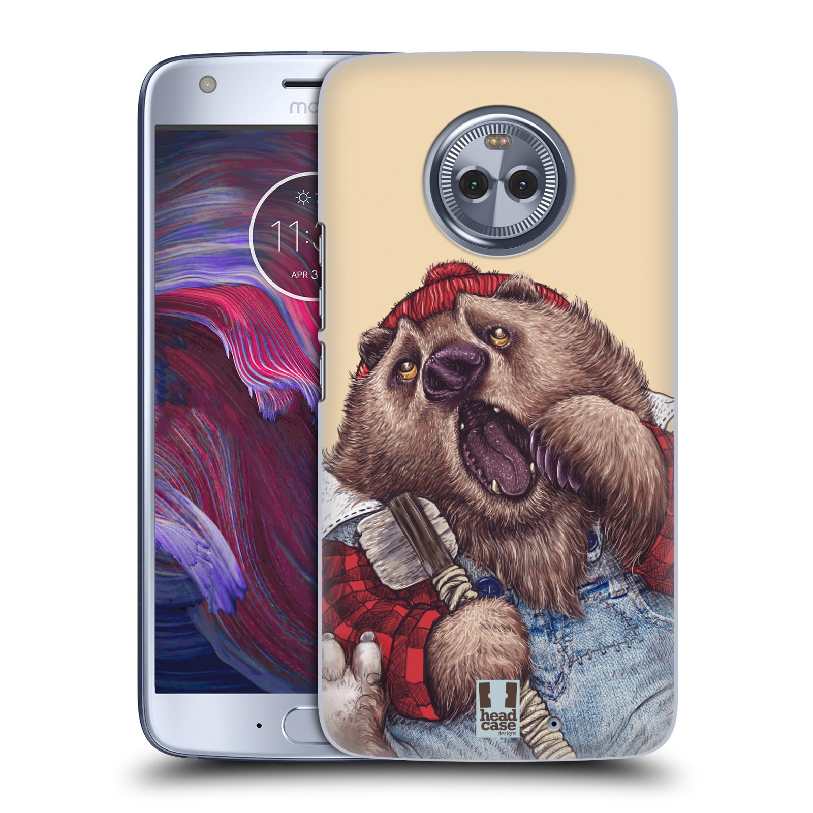 Plastové pouzdro na mobil Lenovo Moto X4 - Head Case - ANIMPLA MEDVĚD