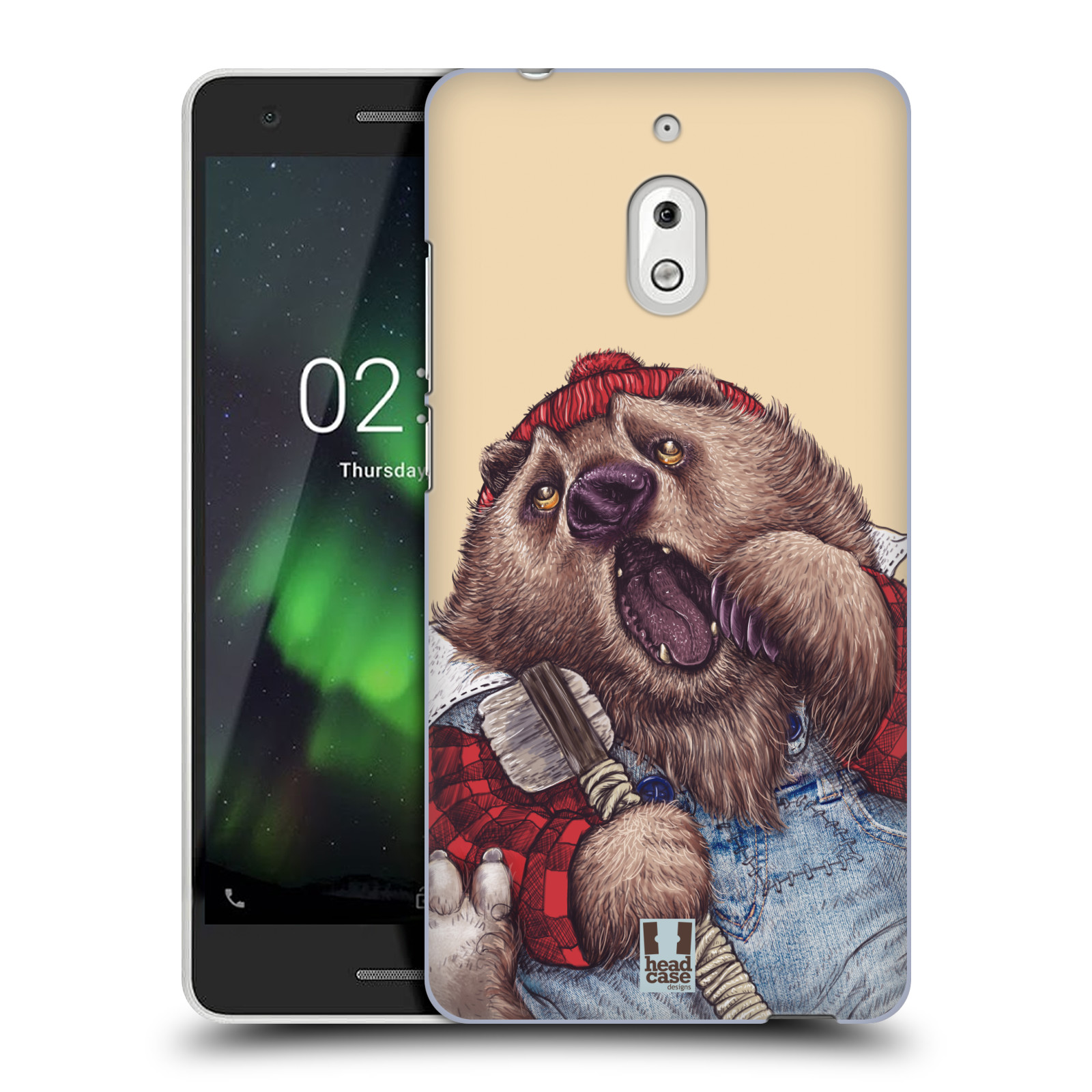 Plastové pouzdro na mobil Nokia 2.1 - Head Case - ANIMPLA MEDVĚD