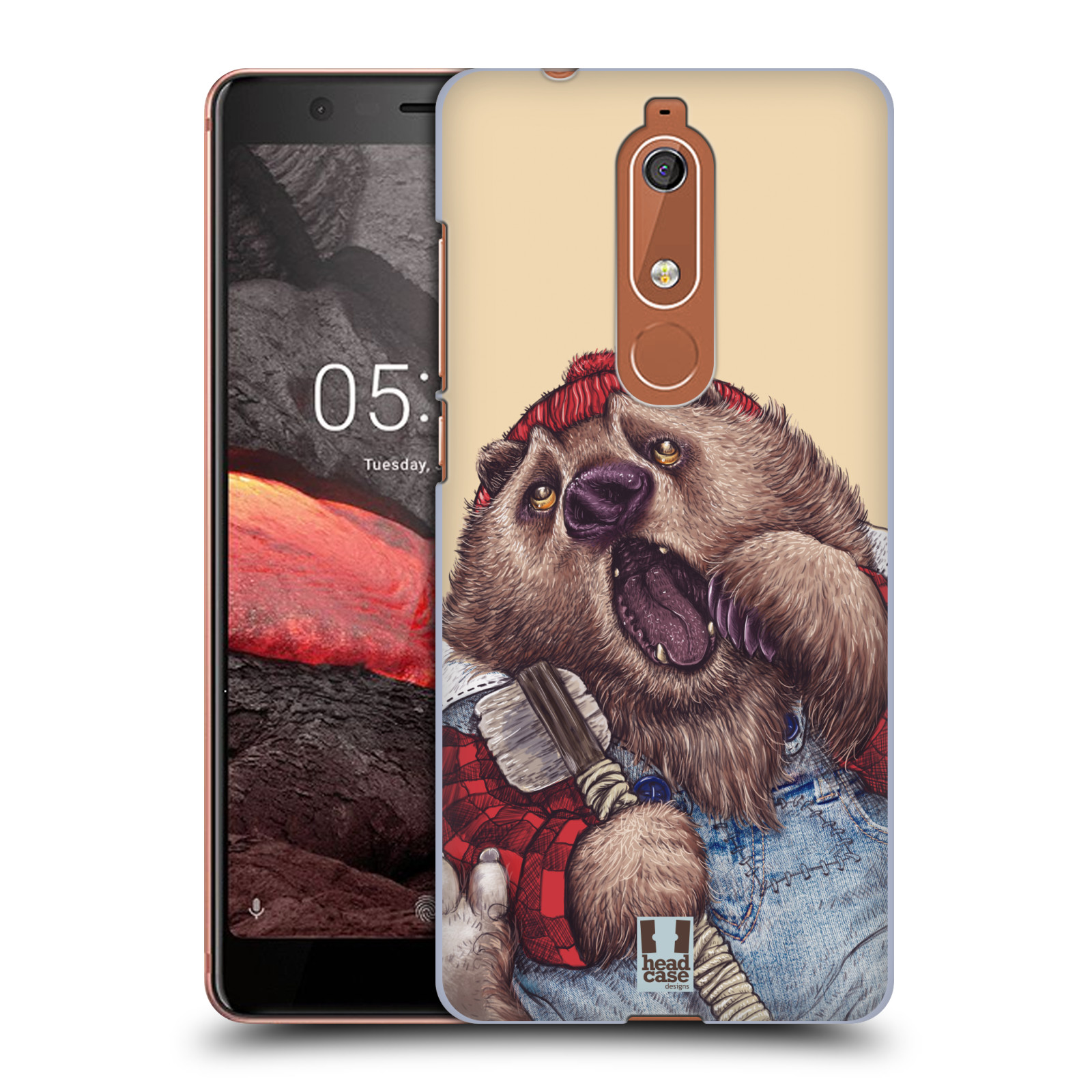 Plastové pouzdro na mobil Nokia 5.1 - Head Case - ANIMPLA MEDVĚD