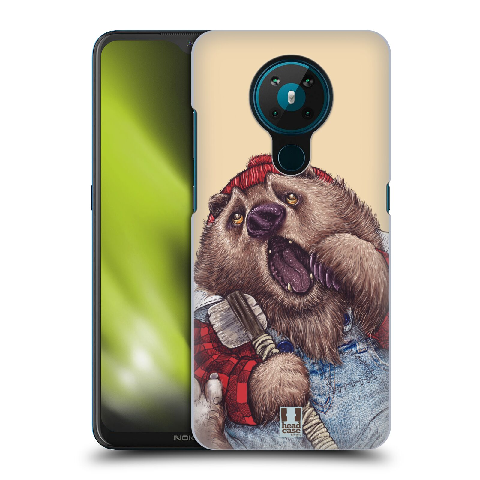 Plastové pouzdro na mobil Nokia 5.3 - Head Case - ANIMPLA MEDVĚD