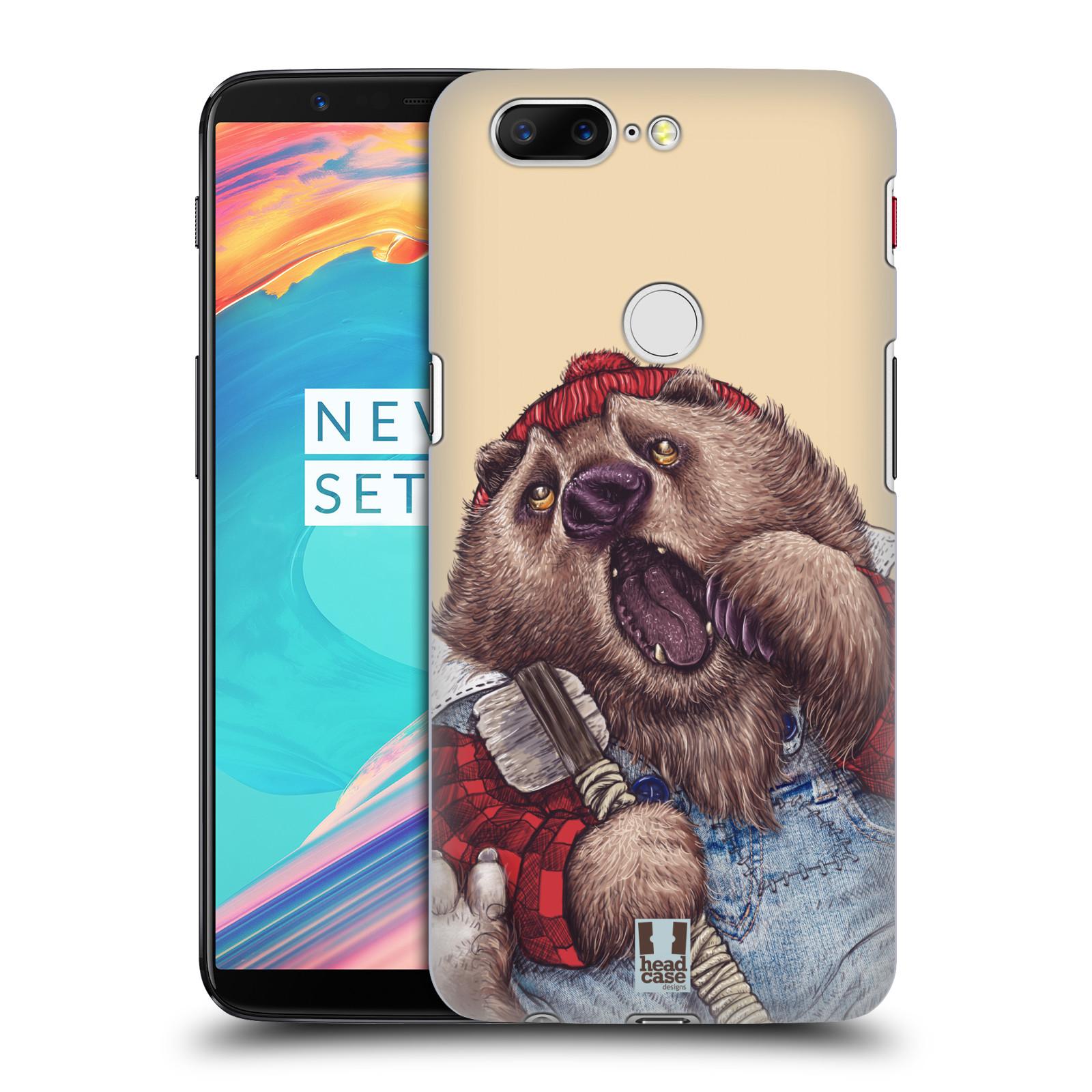 Plastové pouzdro na mobil OnePlus 5T - Head Case - ANIMPLA MEDVĚD