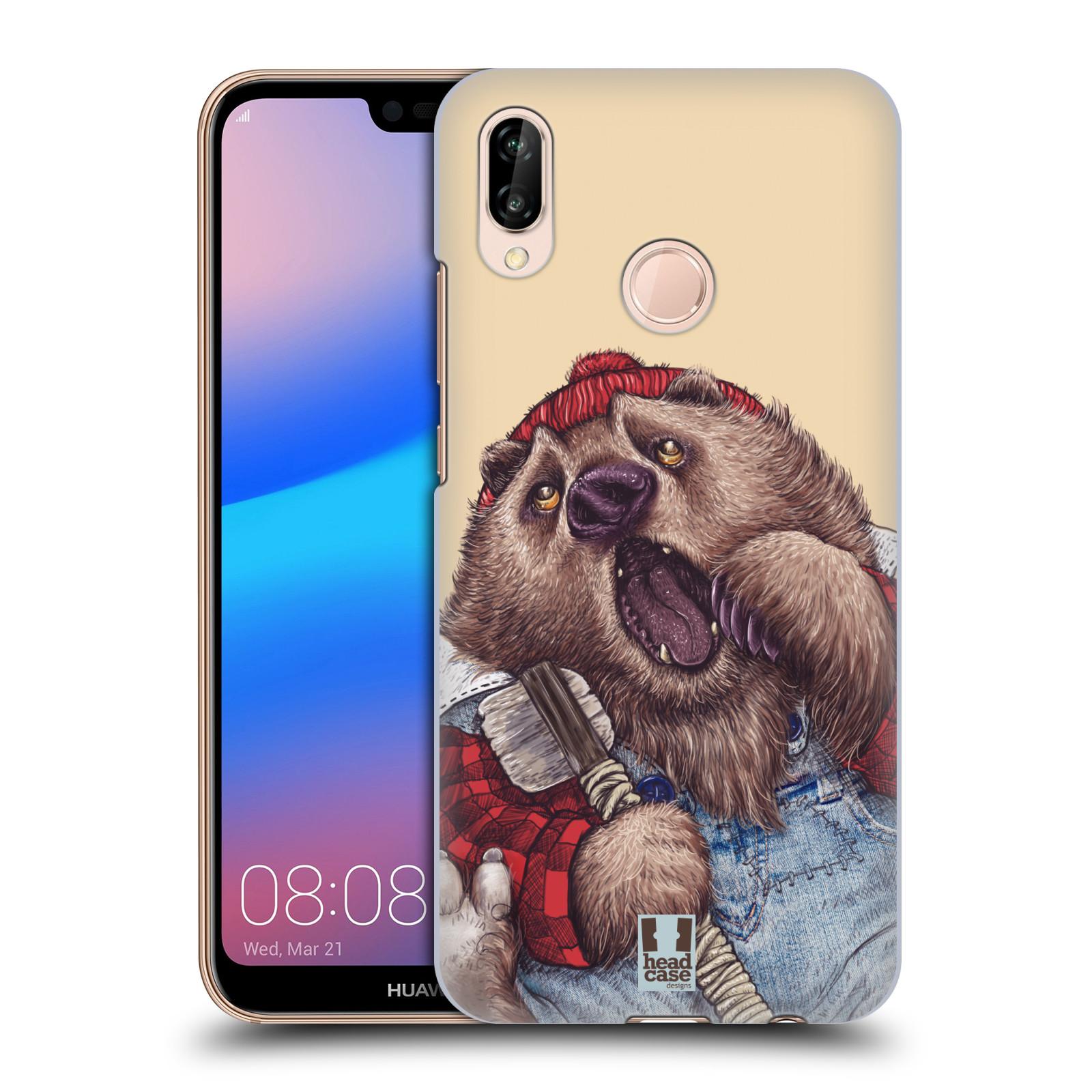 Plastové pouzdro na mobil Huawei P20 Lite - Head Case - ANIMPLA MEDVĚD