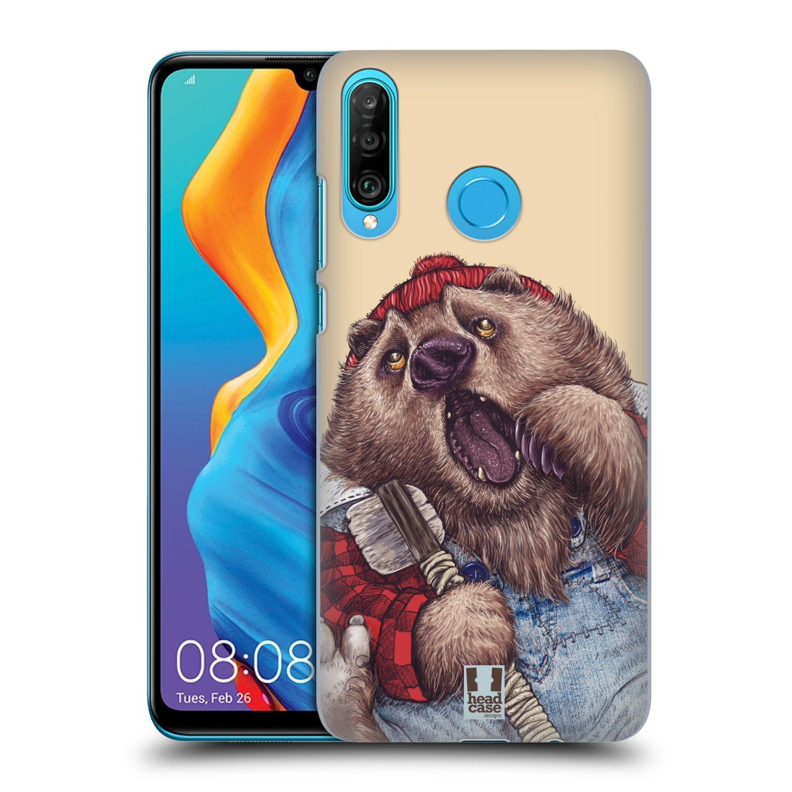 Plastové pouzdro na mobil Huawei P30 Lite - Head Case - ANIMPLA MEDVĚD