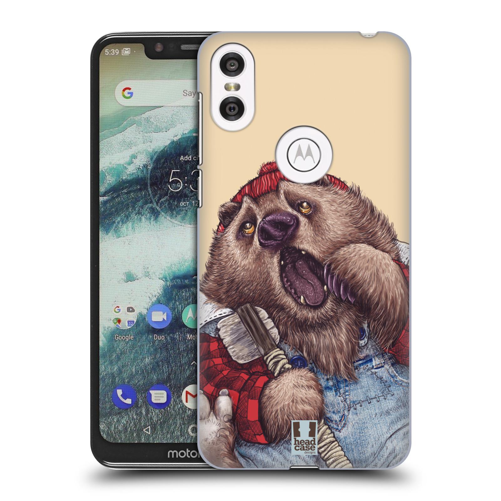 Plastové pouzdro na mobil Motorola One - Head Case - ANIMPLA MEDVĚD