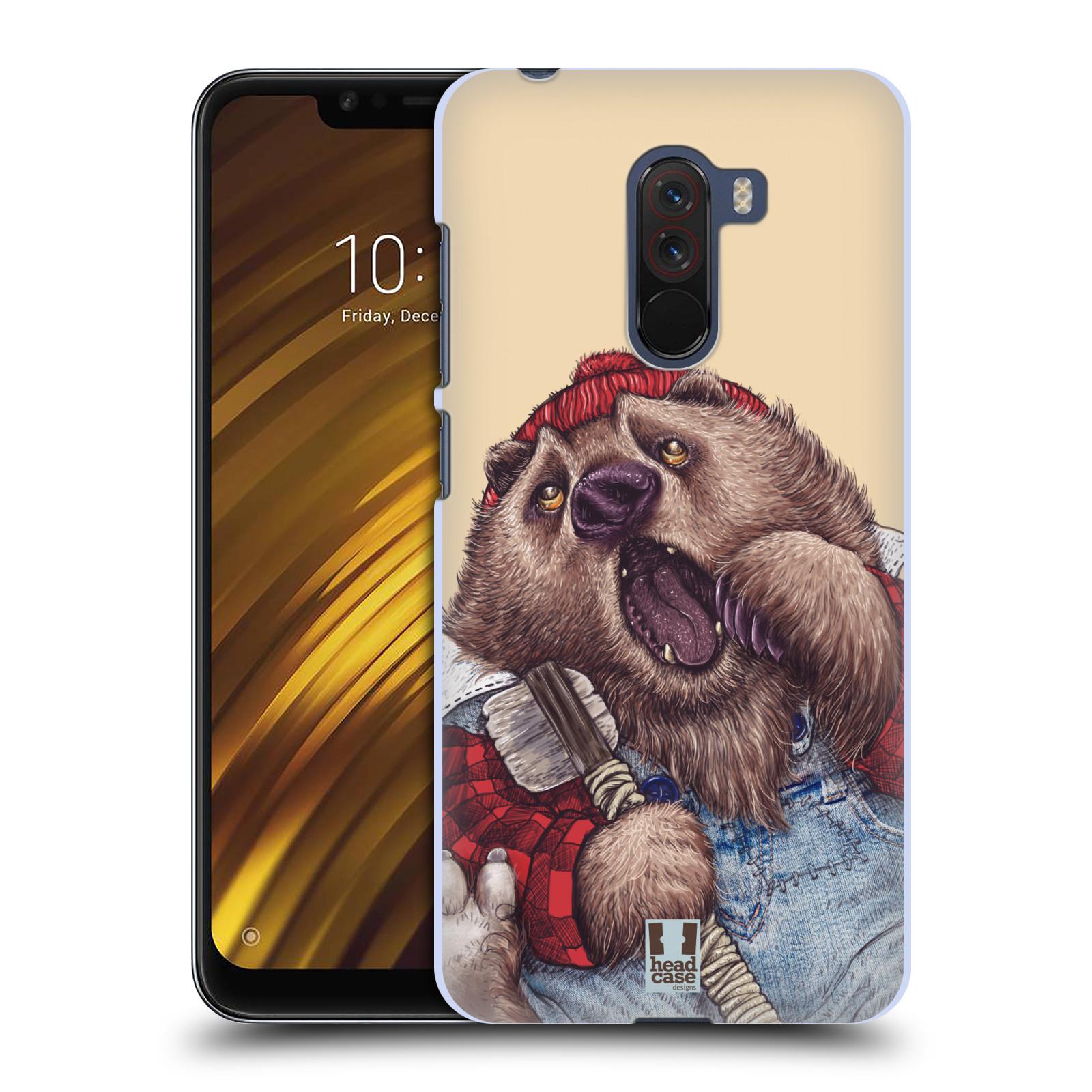 Plastové pouzdro na mobil Xiaomi Pocophone F1 - Head Case - ANIMPLA MEDVĚD