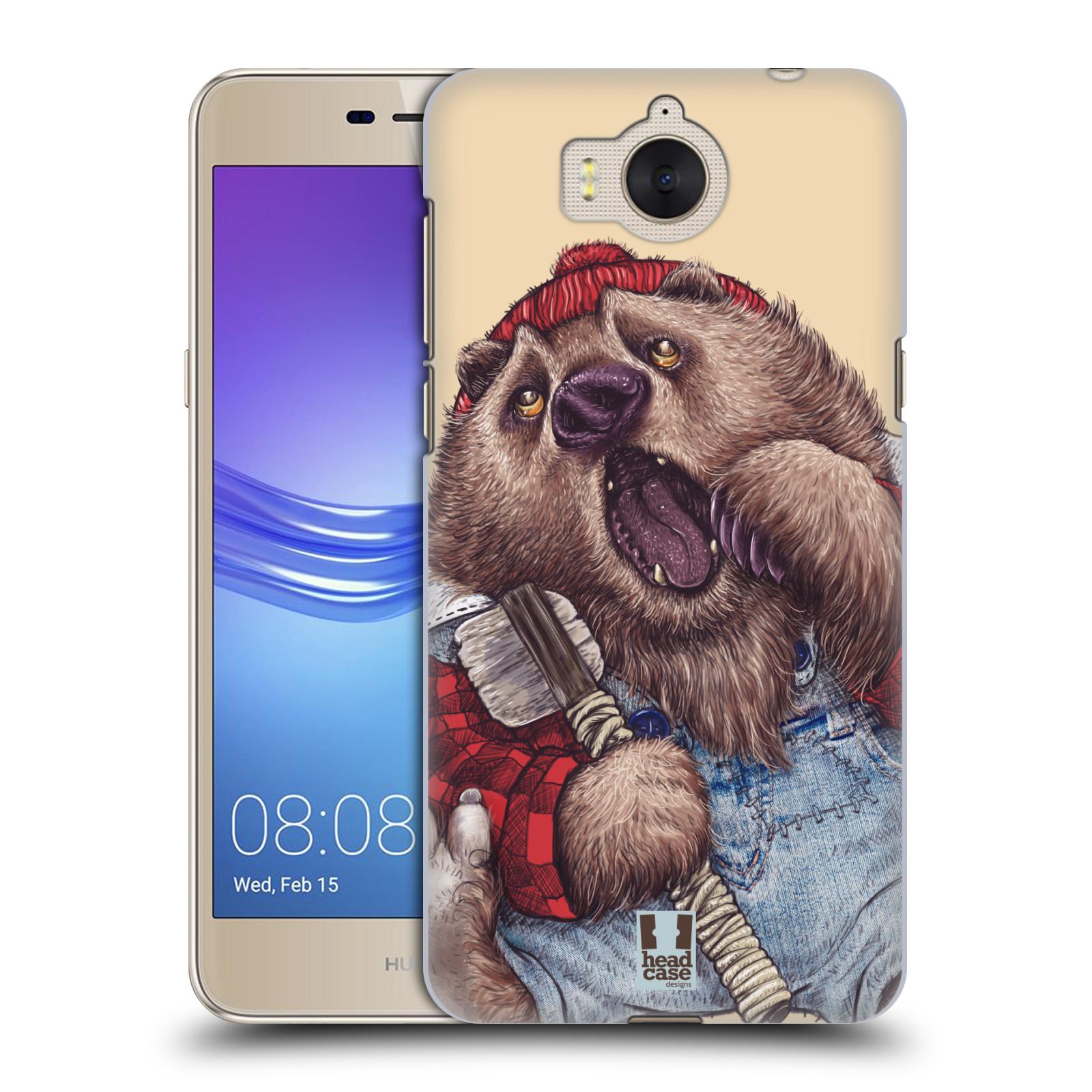 Plastové pouzdro na mobil Huawei Y6 2017 - Head Case - ANIMPLA MEDVĚD