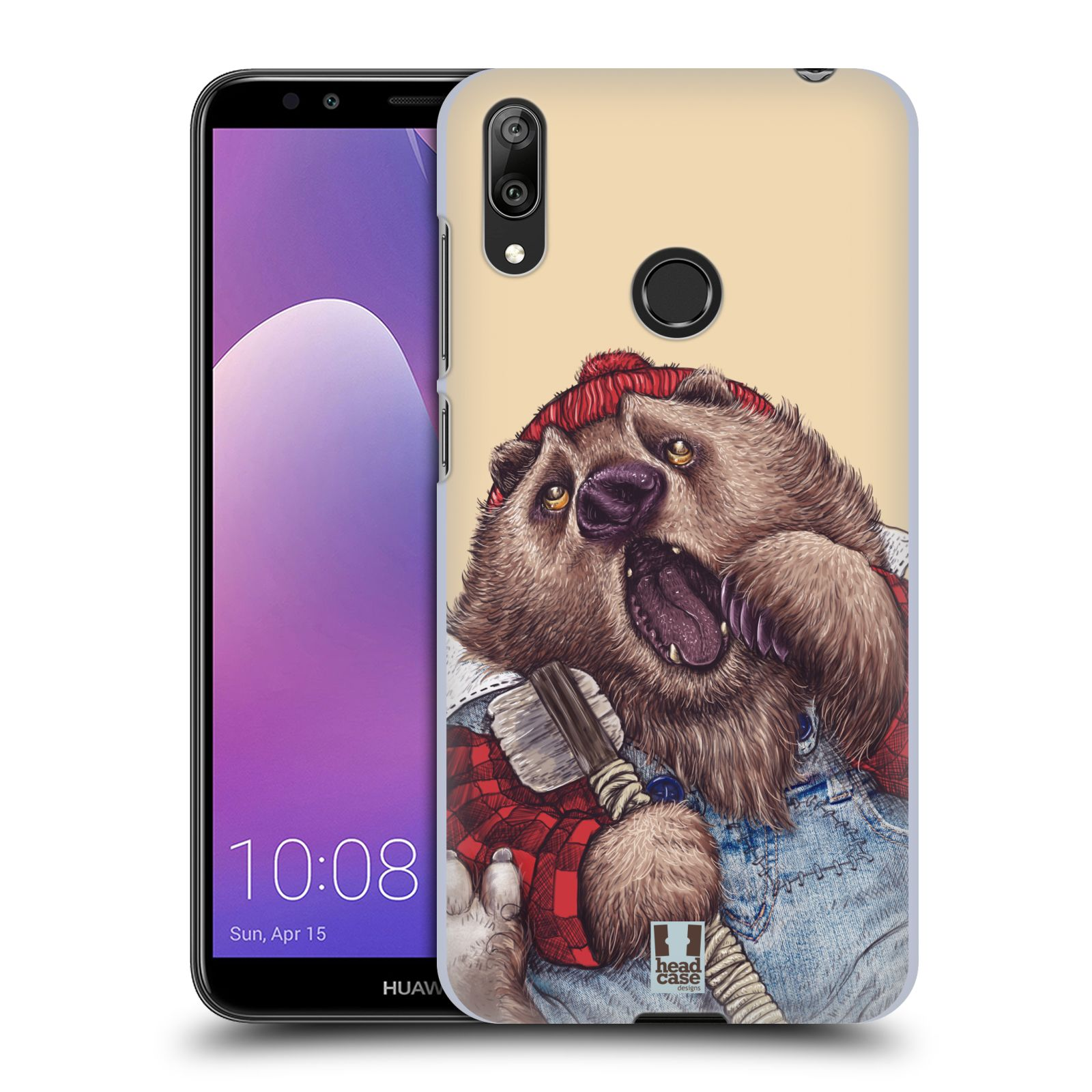 Plastové pouzdro na mobil Huawei Y7 (2019) - Head Case - ANIMPLA MEDVĚD