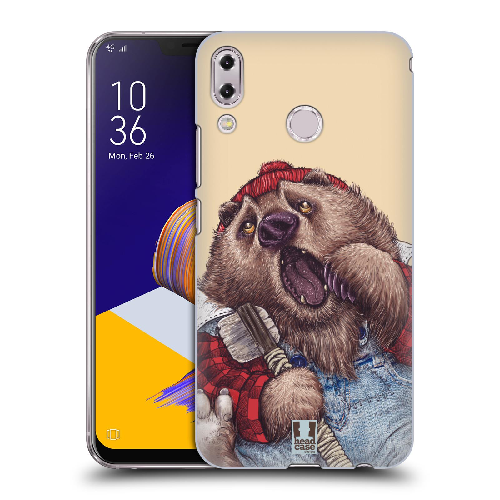 Plastové pouzdro na mobil Asus Zenfone 5z ZS620KL - Head Case - ANIMPLA MEDVĚD