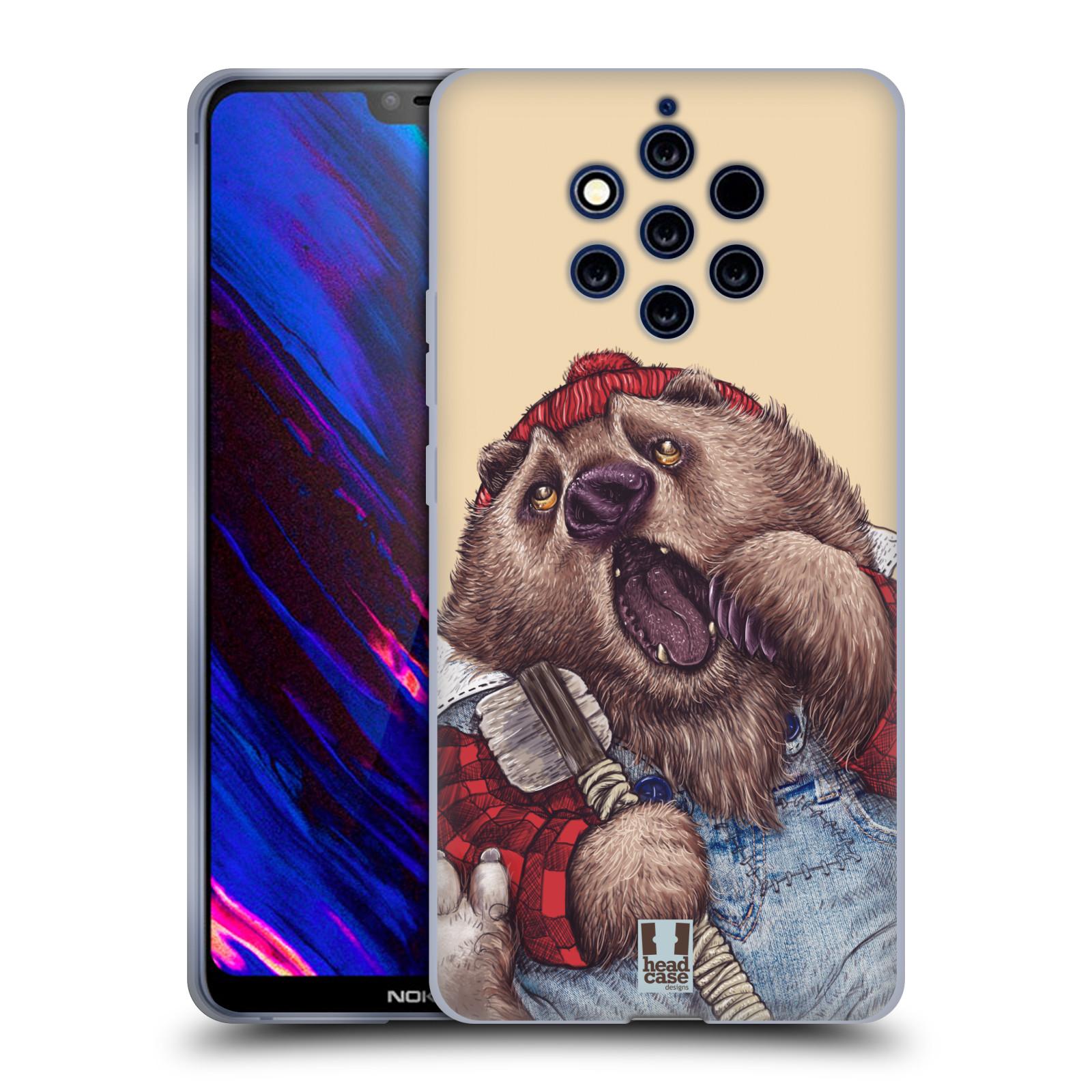 Silikonové pouzdro na mobil Nokia 9 PureView - Head Case - ANIMPLA MEDVĚD