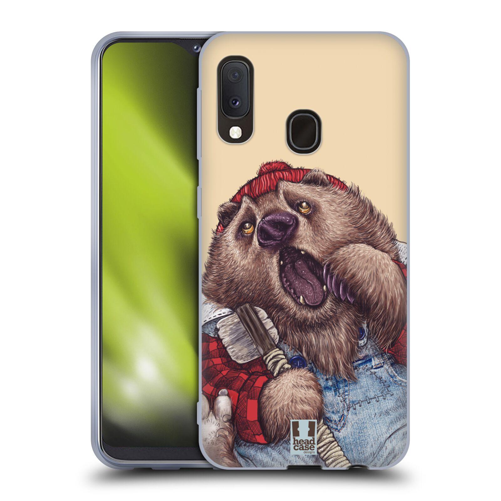 Silikonové pouzdro na mobil Samsung Galaxy A20e - Head Case - ANIMPLA MEDVĚD