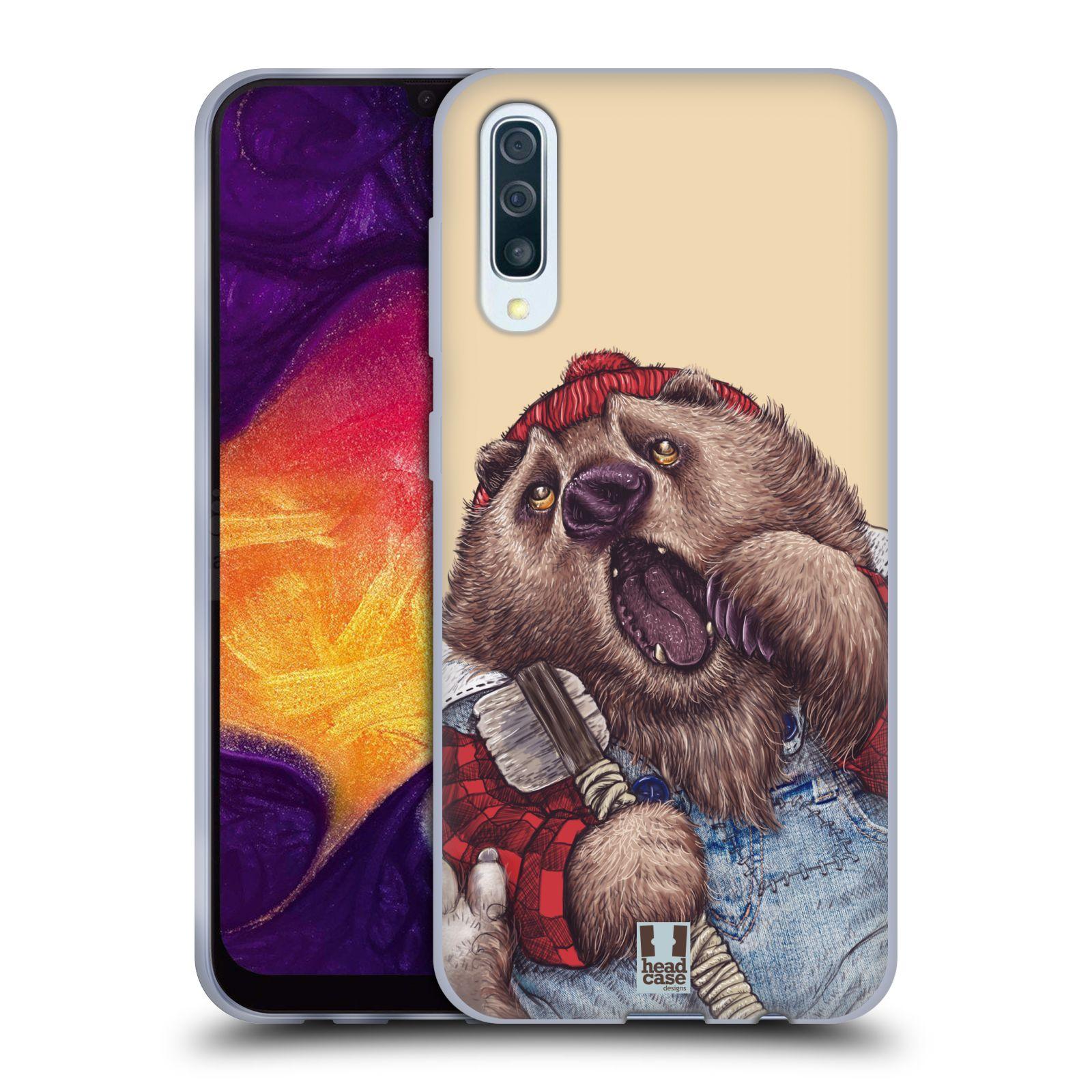 Silikonové pouzdro na mobil Samsung Galaxy A50 / A30s - Head Case - ANIMPLA MEDVĚD