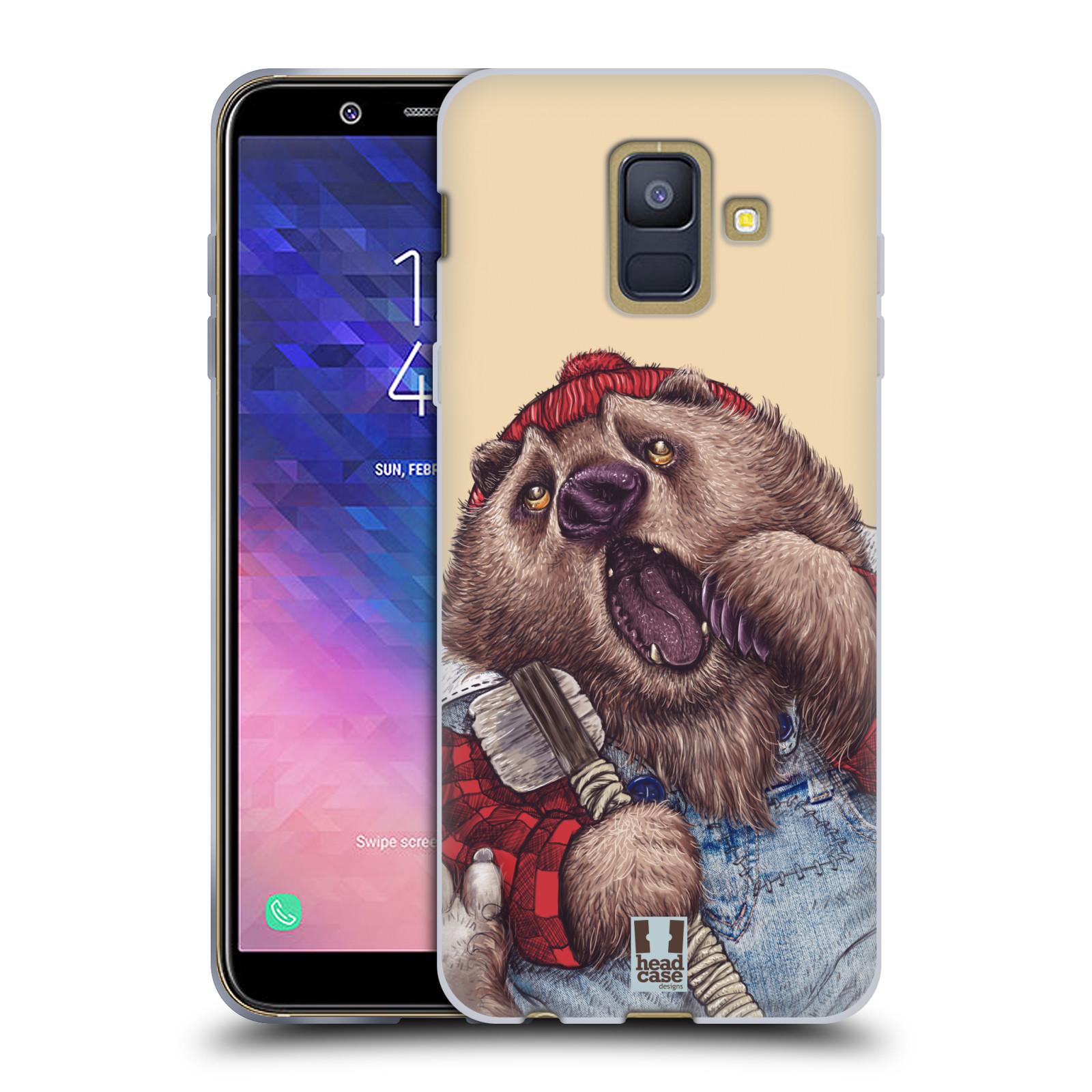Silikonové pouzdro na mobil Samsung Galaxy A6 (2018) - Head Case - ANIMPLA MEDVĚD