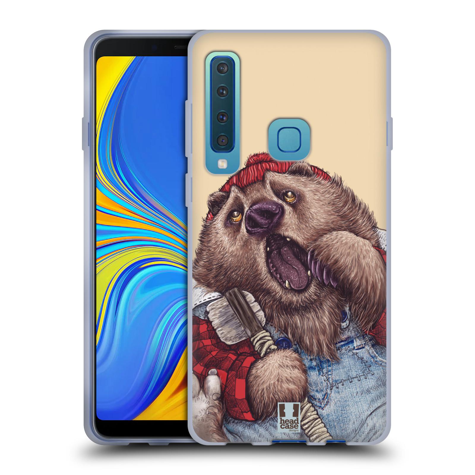 Silikonové pouzdro na mobil Samsung Galaxy A9 (2018) - Head Case - ANIMPLA MEDVĚD