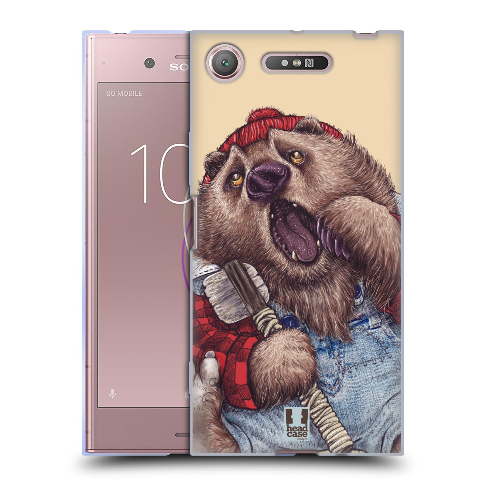 Silikonové pouzdro na mobil Sony Xperia XZ1 - Head Case - ANIMPLA MEDVĚD