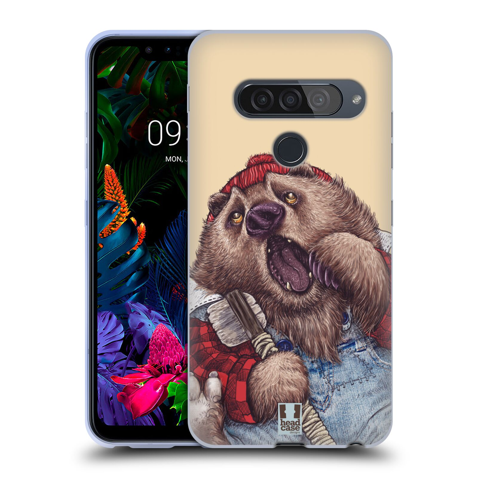 Silikonové pouzdro na mobil LG G8s ThinQ - Head Case - ANIMPLA MEDVĚD