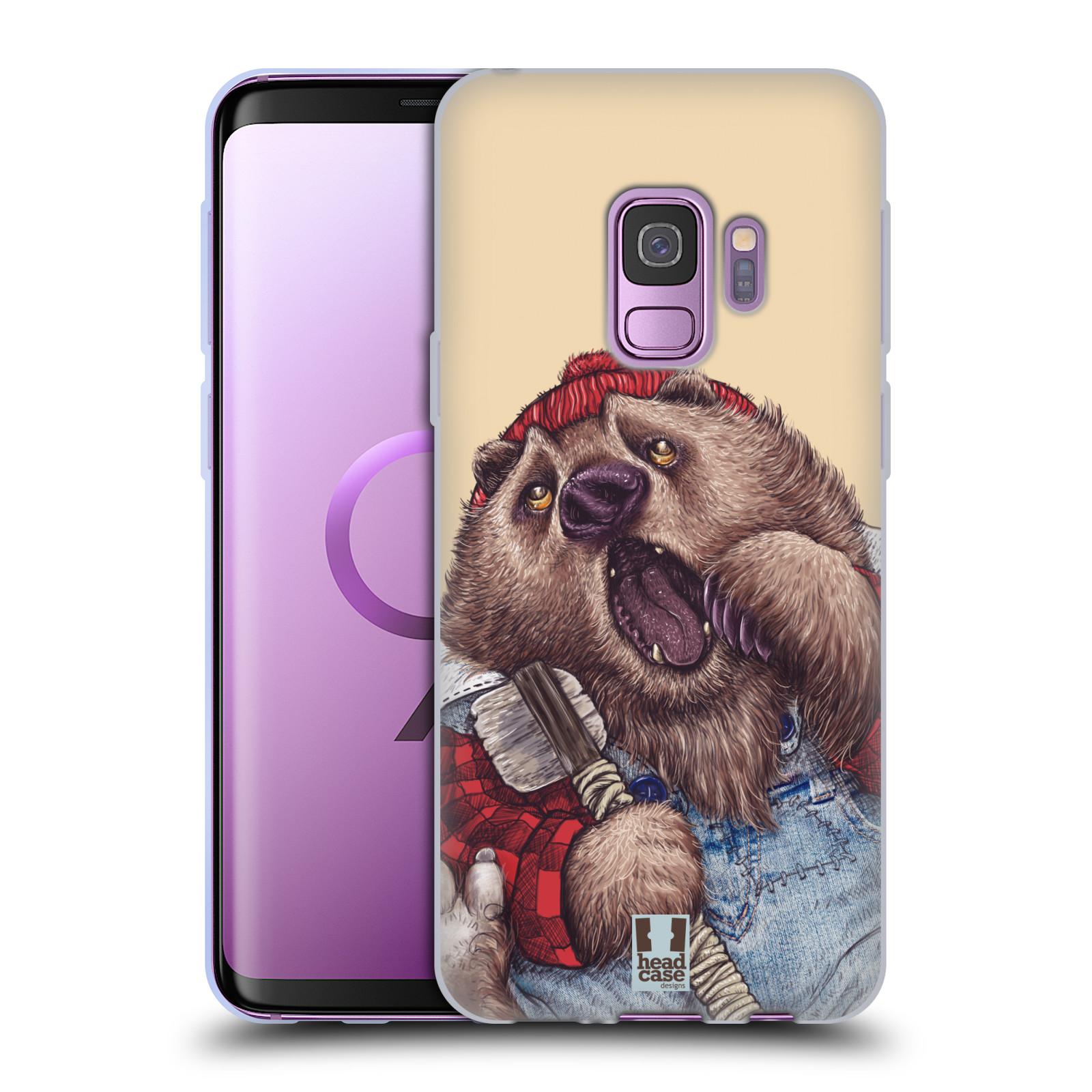 Silikonové pouzdro na mobil Samsung Galaxy S9 - Head Case - ANIMPLA MEDVĚD