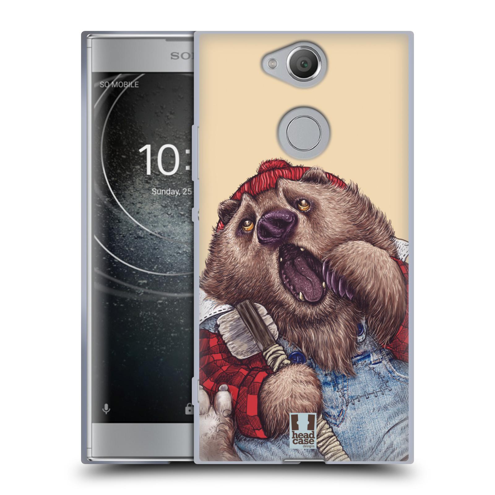 Silikonové pouzdro na mobil Sony Xperia XA2 - Head Case - ANIMPLA MEDVĚD