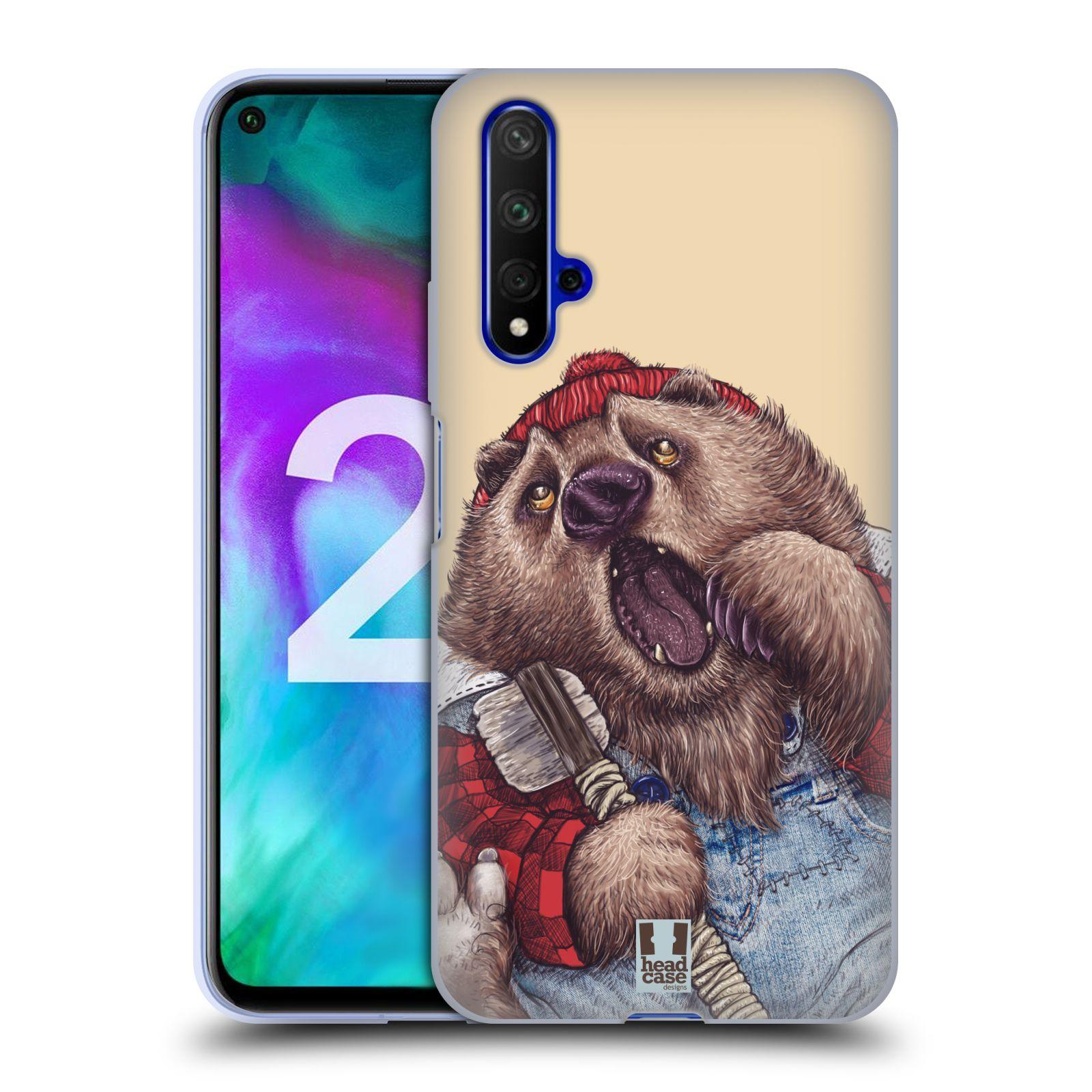 Silikonové pouzdro na mobil Honor 20 - Head Case - ANIMPLA MEDVĚD