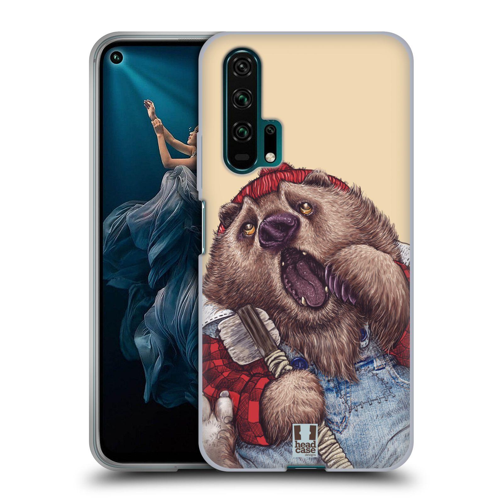 Silikonové pouzdro na mobil Honor 20 Pro - Head Case - ANIMPLA MEDVĚD