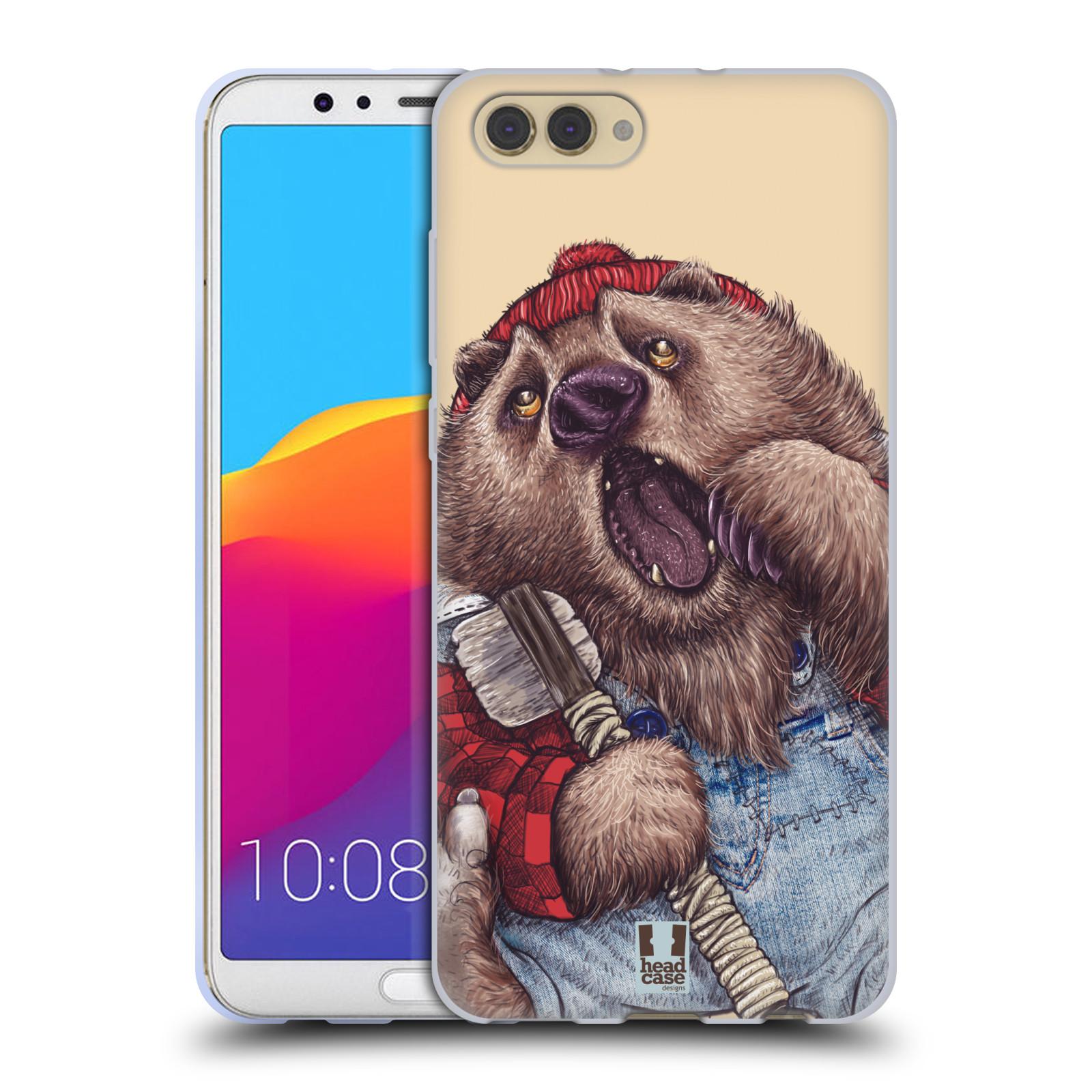 Silikonové pouzdro na mobil Honor View 10 - Head Case - ANIMPLA MEDVĚD