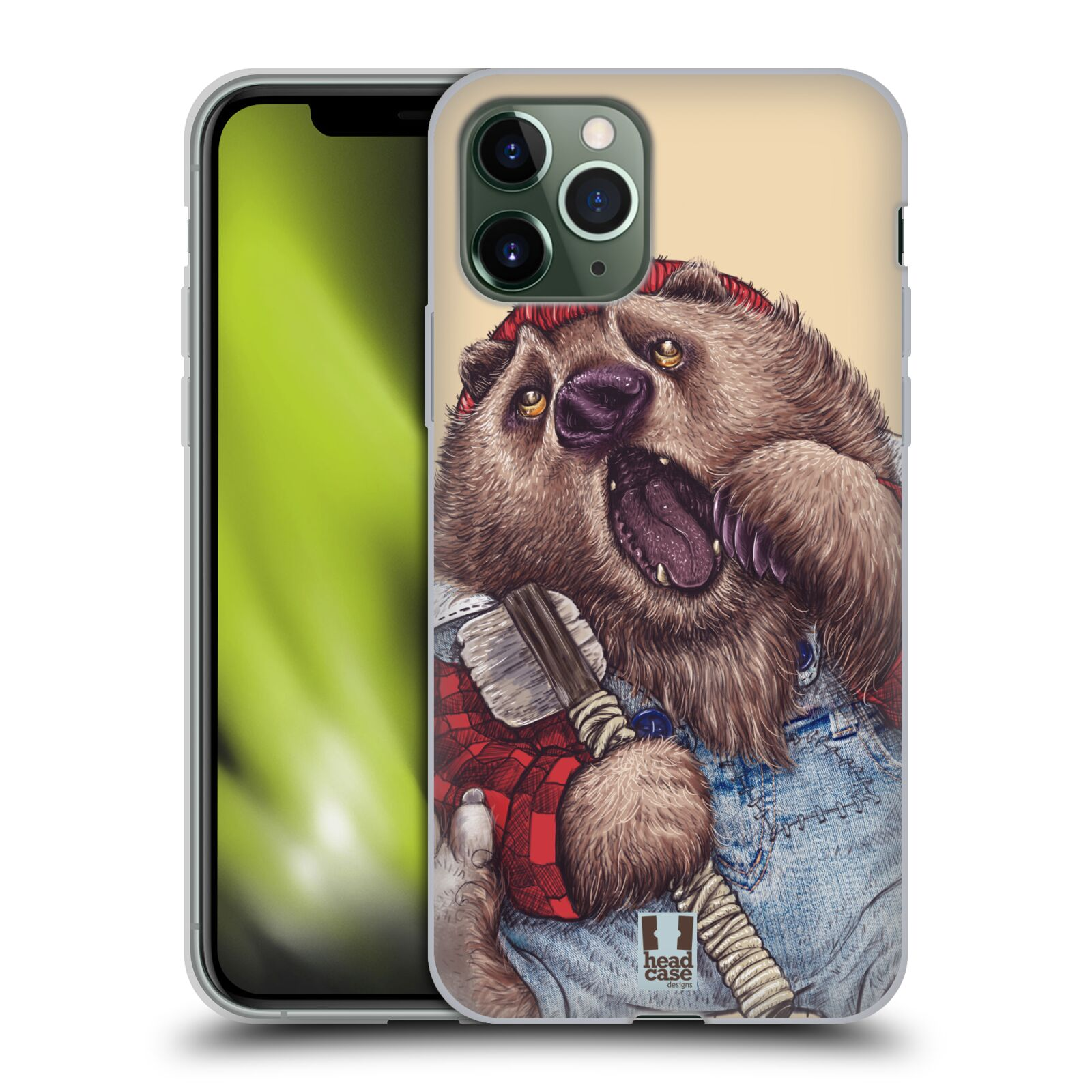 gucci phone case iphone x original - Silikonové pouzdro na mobil Apple iPhone 11 Pro - Head Case - ANIMPLA MEDVĚD