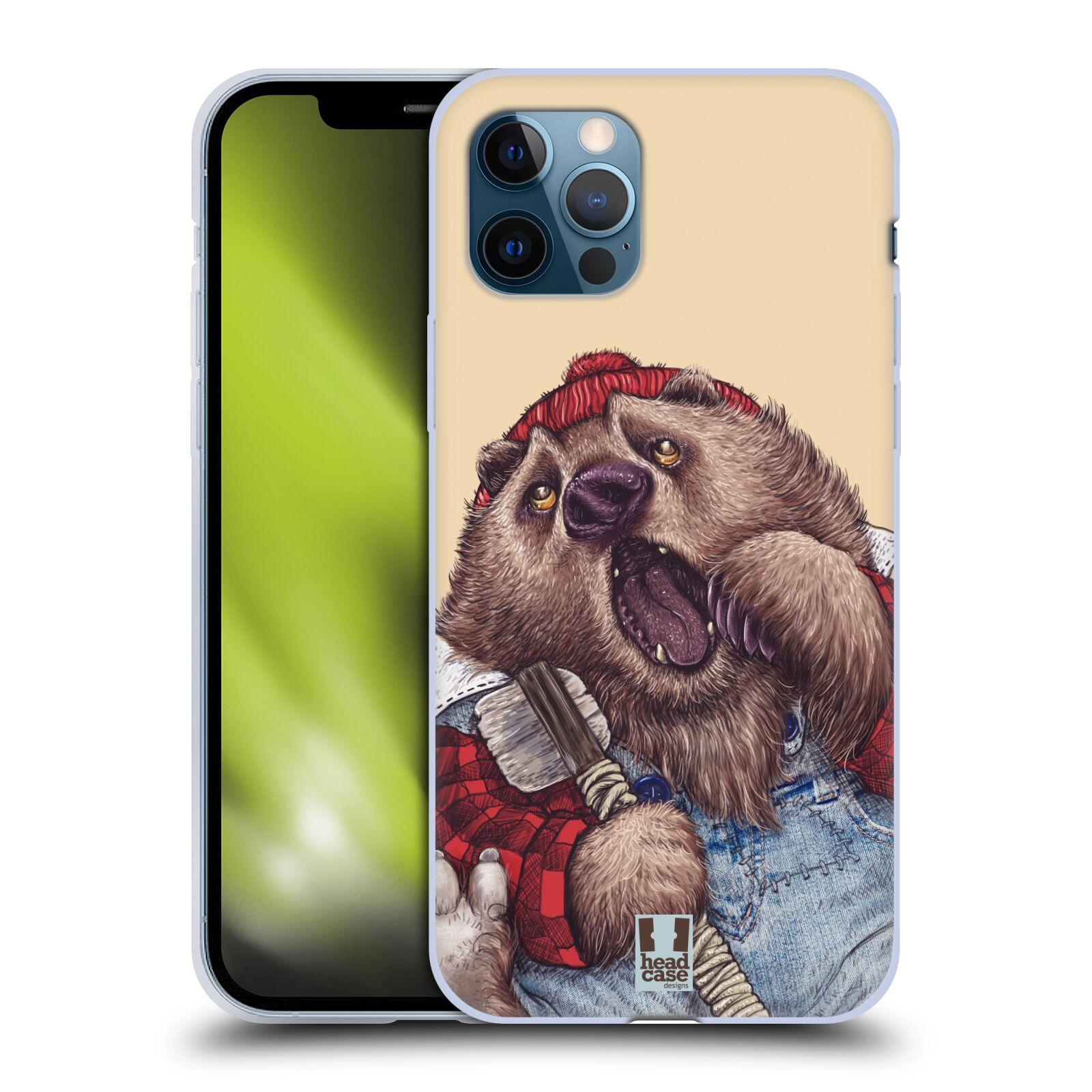 Silikonové pouzdro na mobil Apple iPhone 12 / 12 Pro - Head Case - ANIMPLA MEDVĚD