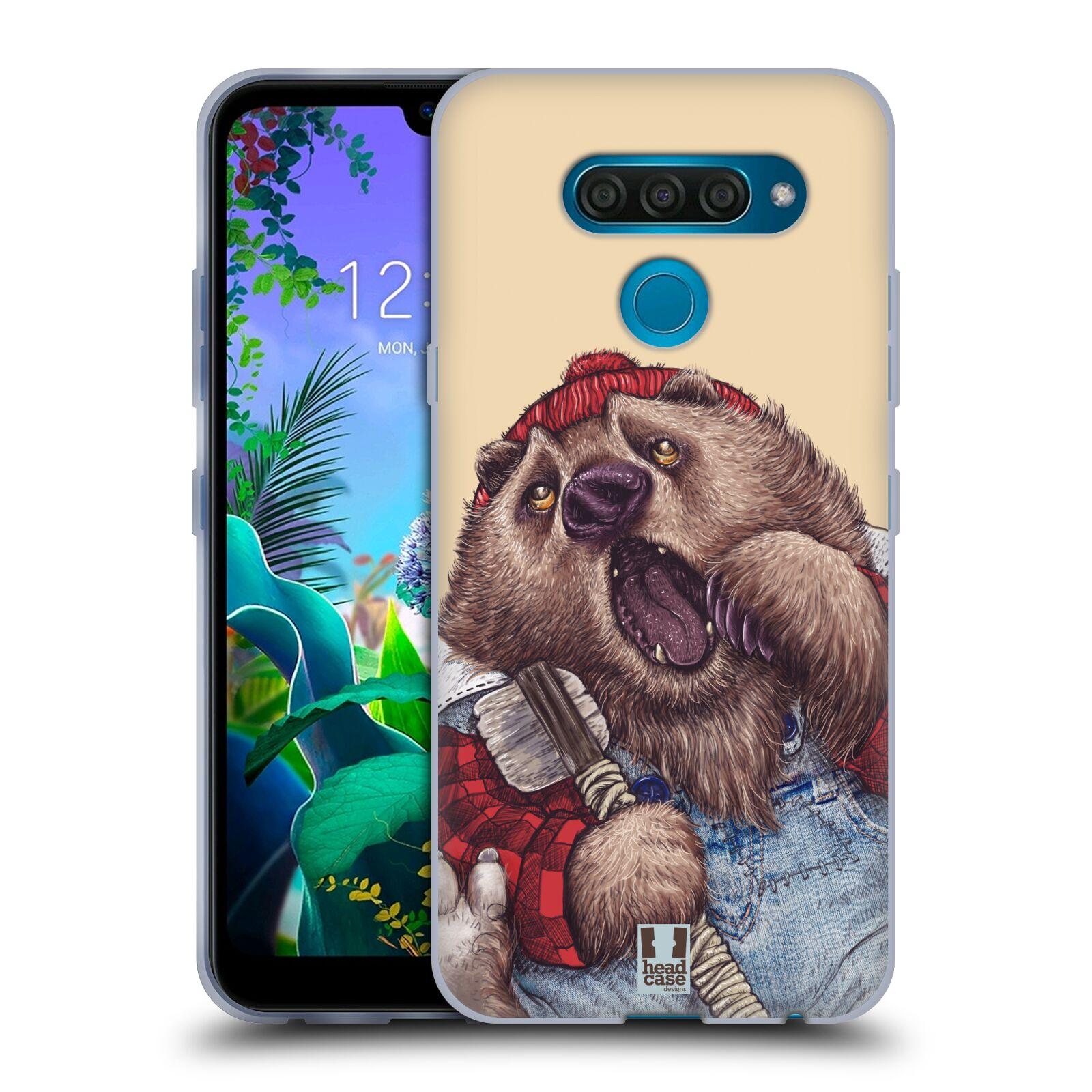 Silikonové pouzdro na mobil LG Q60 - Head Case - ANIMPLA MEDVĚD