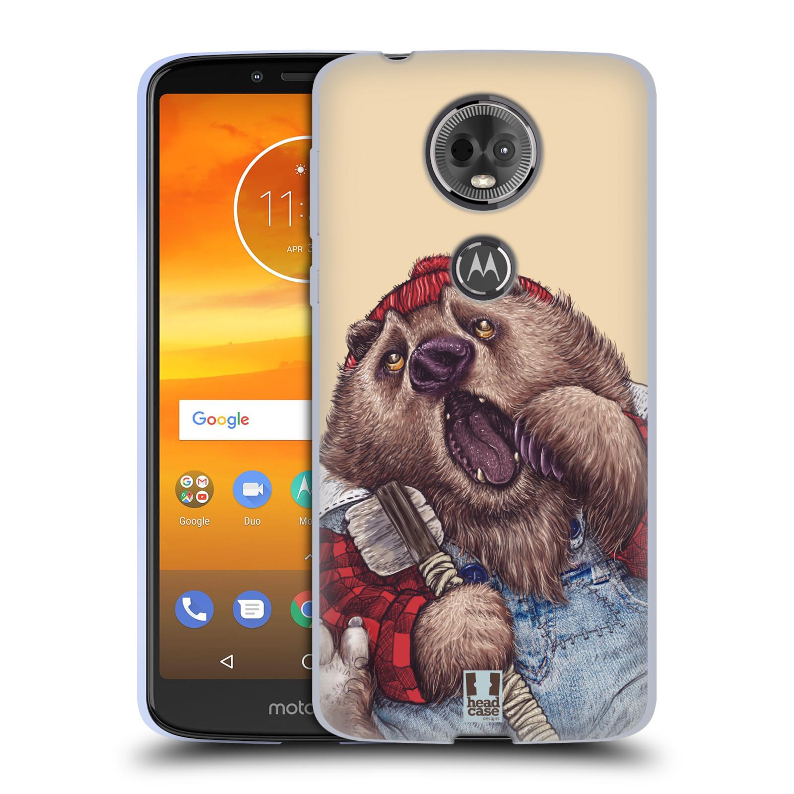 Silikonové pouzdro na mobil Motorola Moto E5 Plus - Head Case - ANIMPLA MEDVĚD