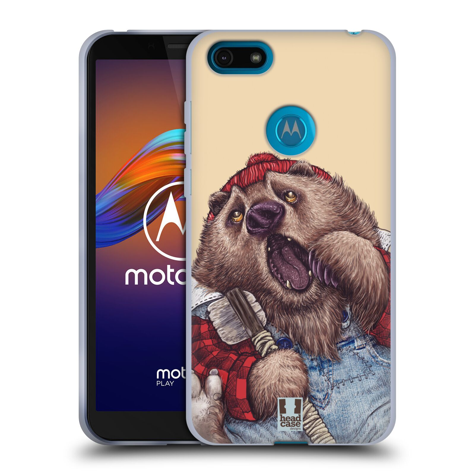 Silikonové pouzdro na mobil Motorola Moto E6 Play - Head Case - ANIMPLA MEDVĚD