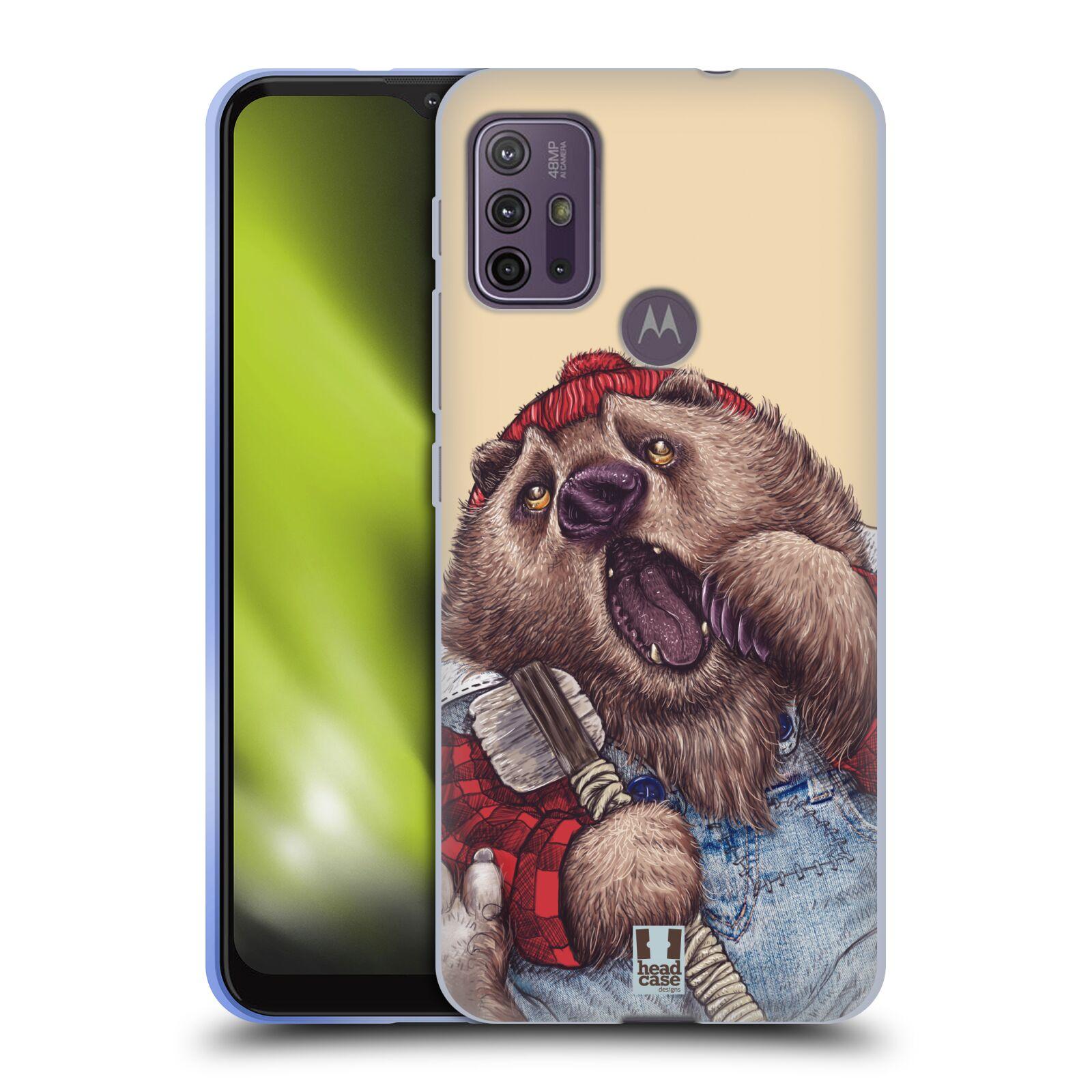 Silikonové pouzdro na mobil Motorola Moto G10 / G30 - Head Case - ANIMPLA MEDVĚD